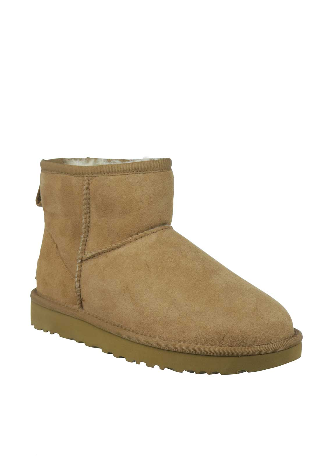 UGG Australia Womens Suede Ankle Boot, Chestnut