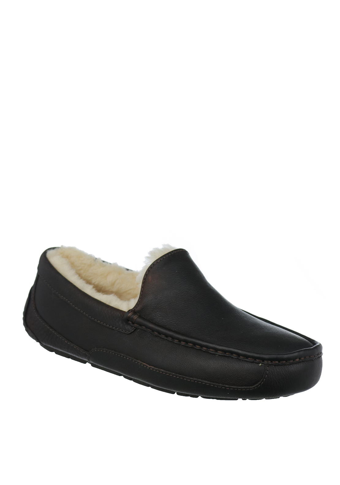 Ugg Australia Mens Ascot Leather Slippers, China Tea
