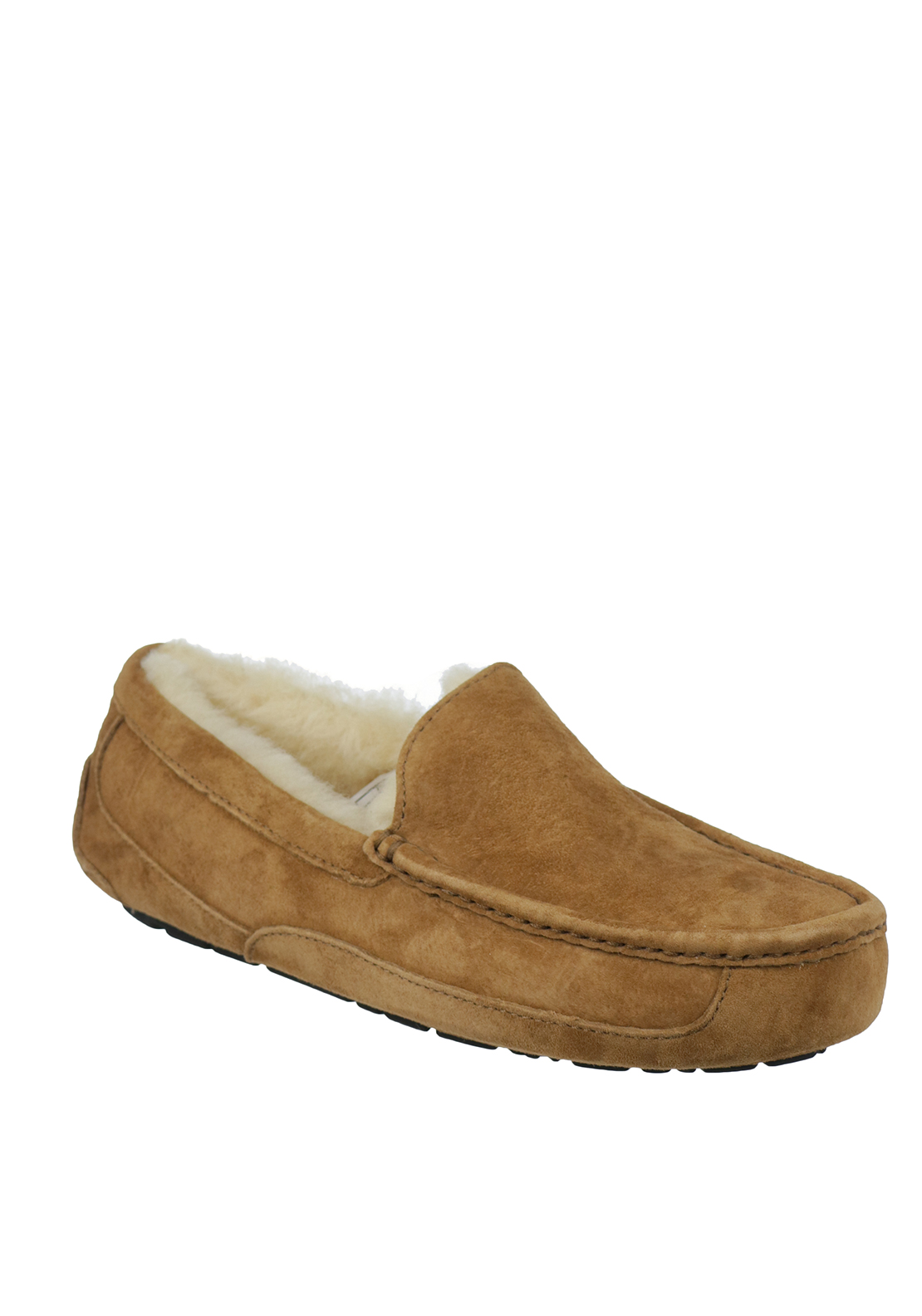 Ugg Australia Mens Ascot Suede Slippers, Chestnut