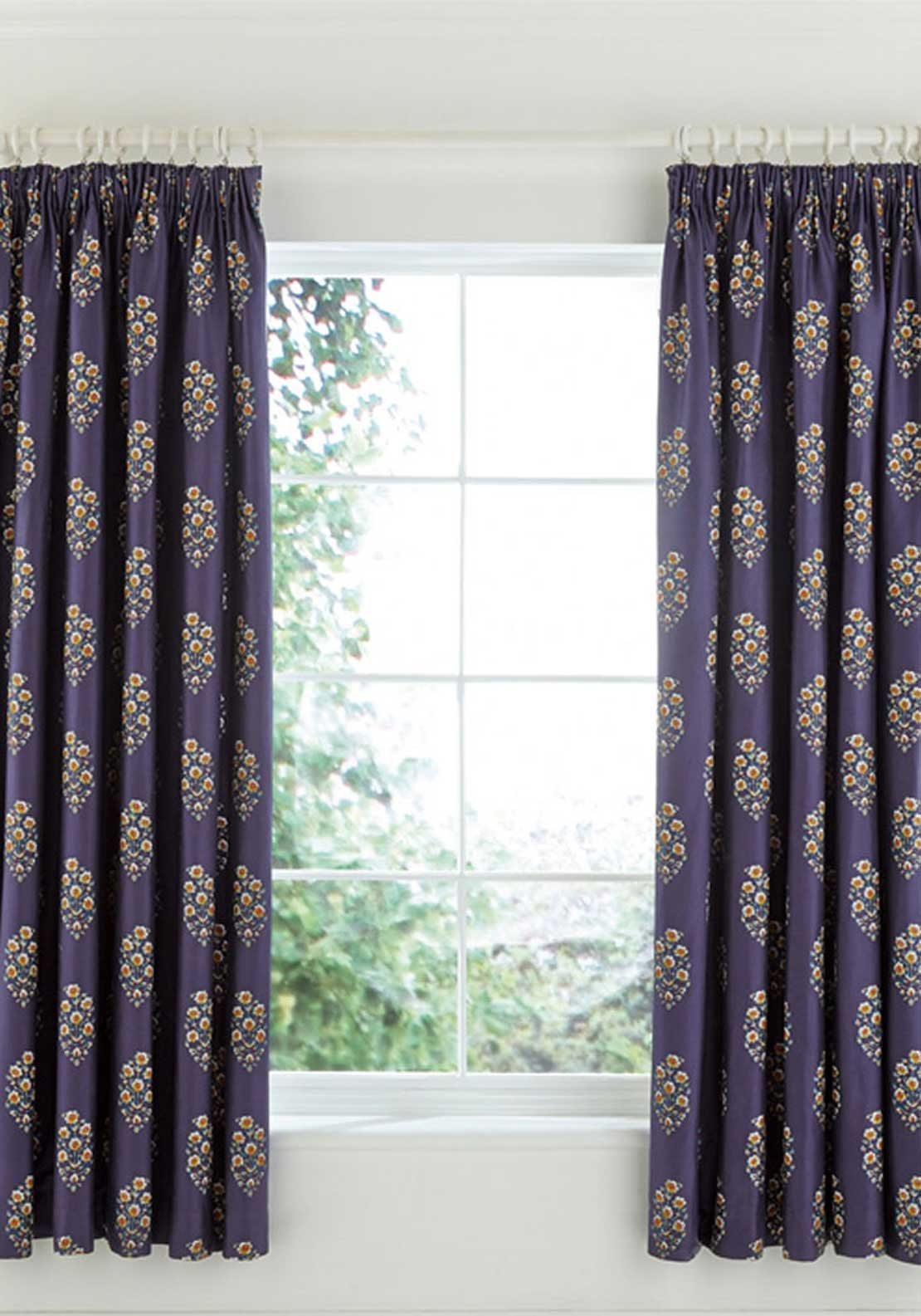 "V&A Nina Fully Lined Pencil Pleat Curtains, 66"" X 72"""