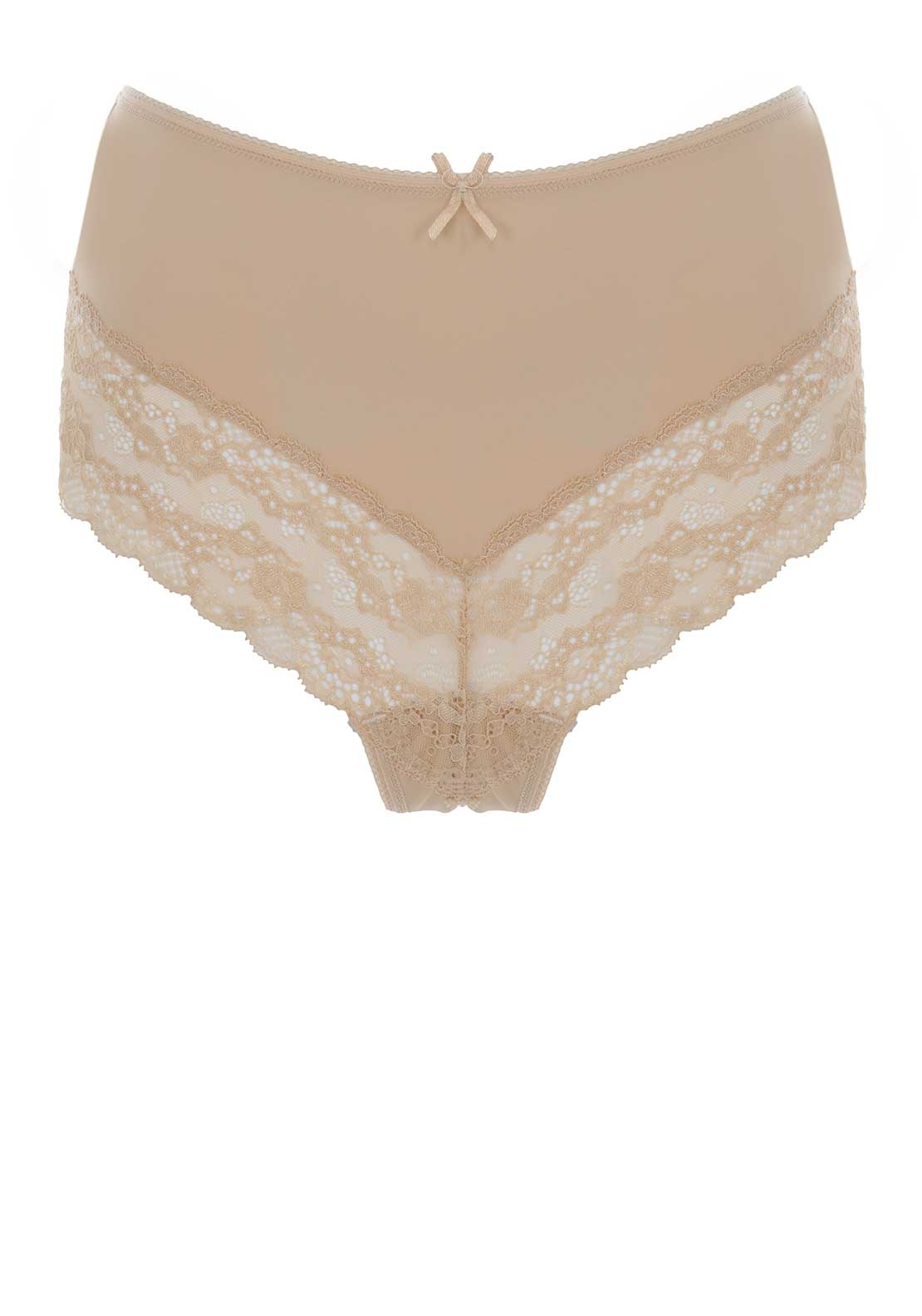 Loving Moments Lace Trim Briefs, Nude