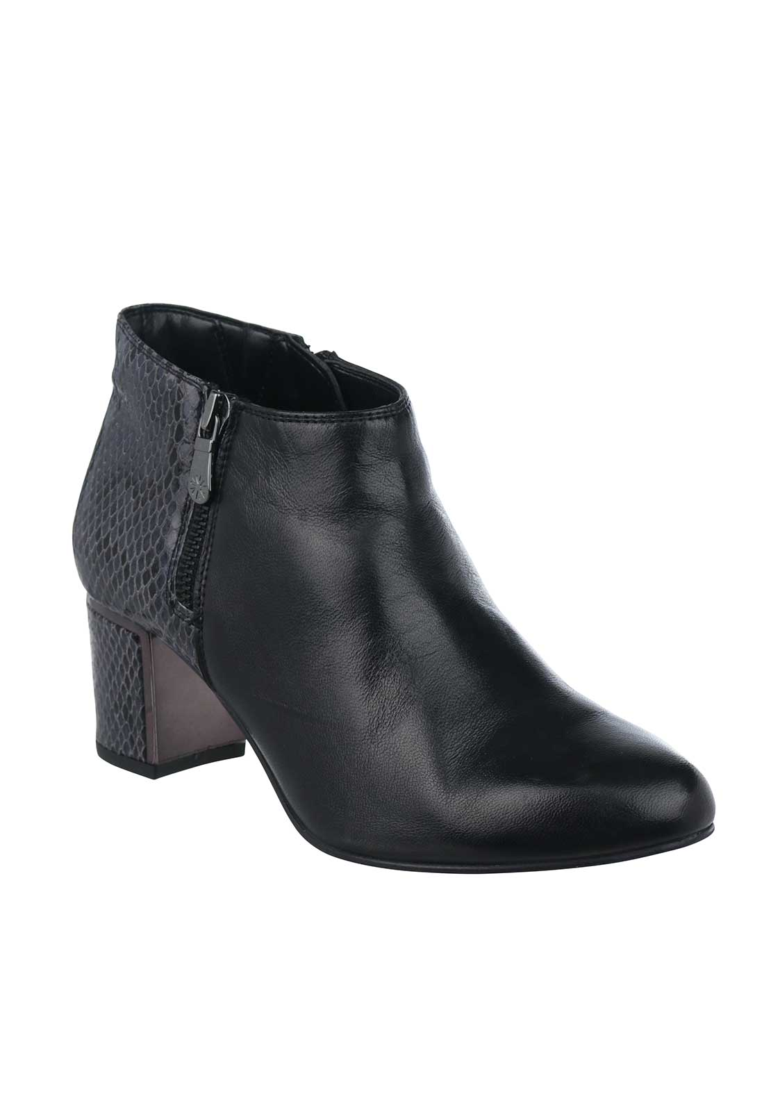 Van Dal Arial Leather Heeled Ankle Boots, Black