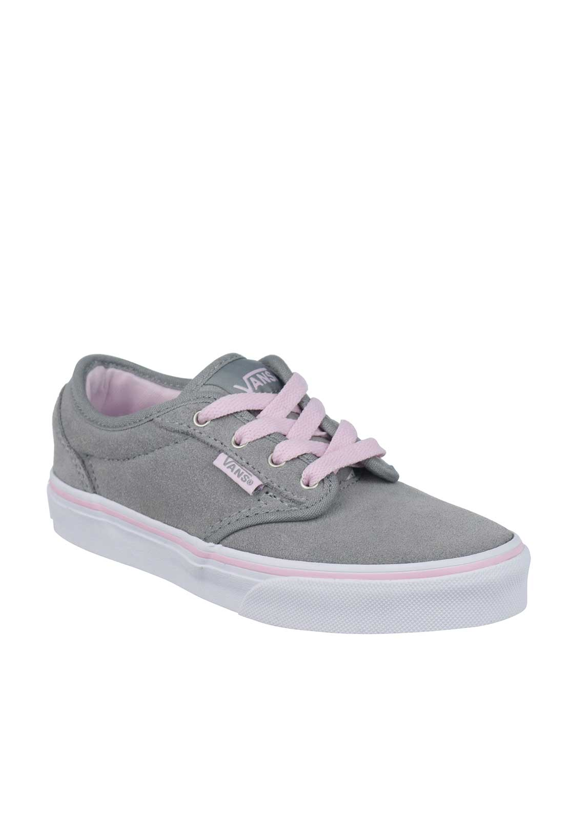 Vans Girls Suede Trainers, Grey