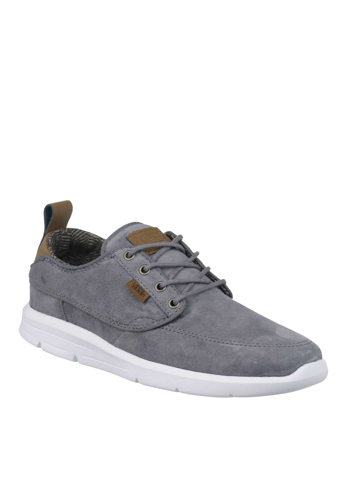 Vans Mens Suede Brigata Trainers, Grey