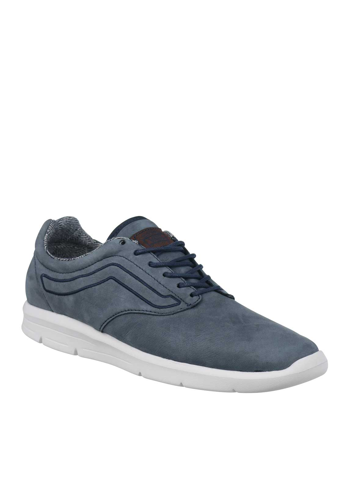 Vans Mens Leather Suiting Iso Trainers, Blue