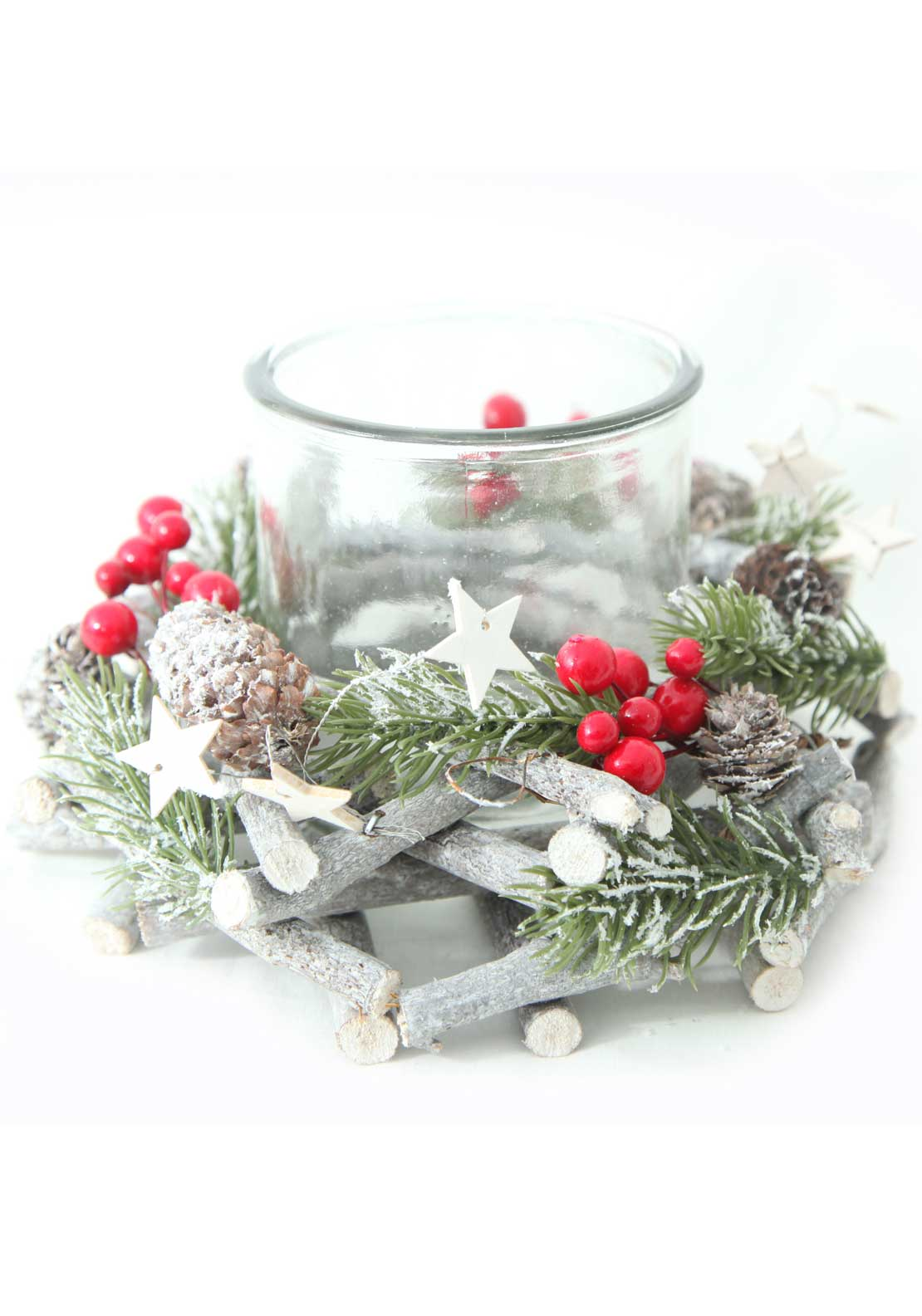 Verano Christmas Candle Holder Centrepiece