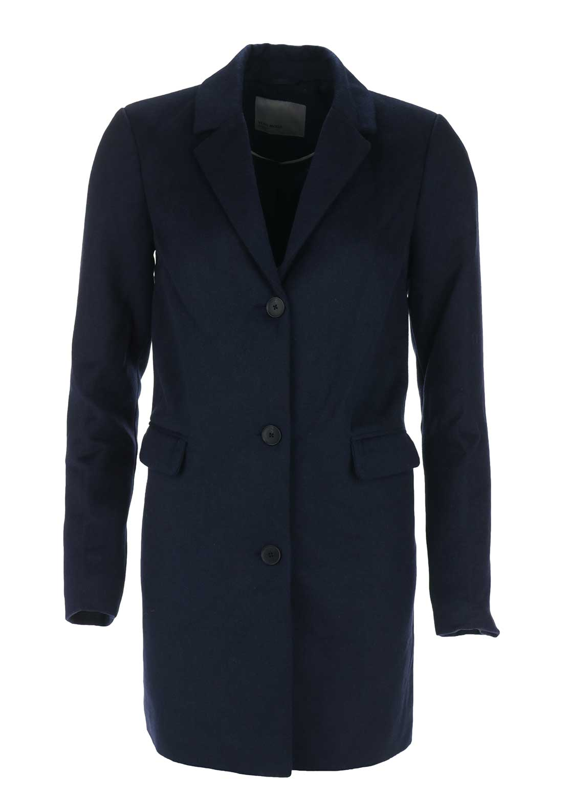 Vero Moda Lien Wool Mix Coat, Navy