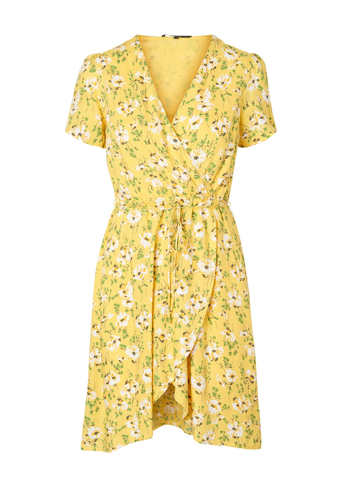 Vero Moda Polly Floral Midi Dress, Yellow