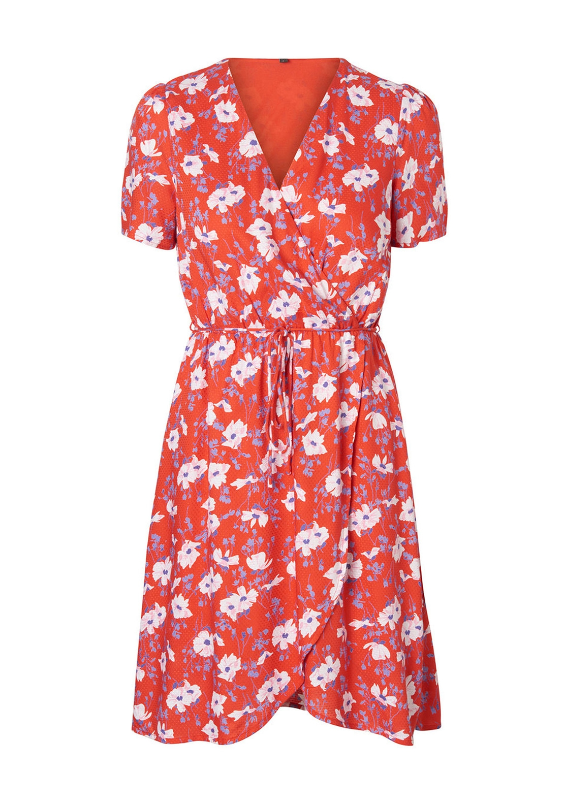 Vero Moda Polly Floral Midi Dress, Red