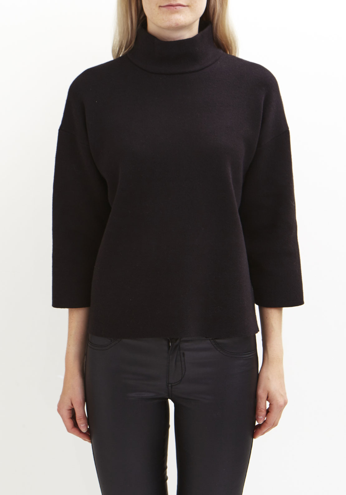 Vila Oylmpa Turtle Neck Jumper, Black