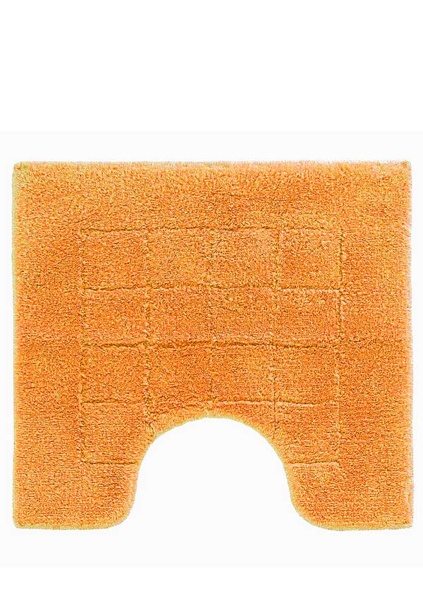 Vossen Exclusive Pedestal Bathroom Mat, Orange