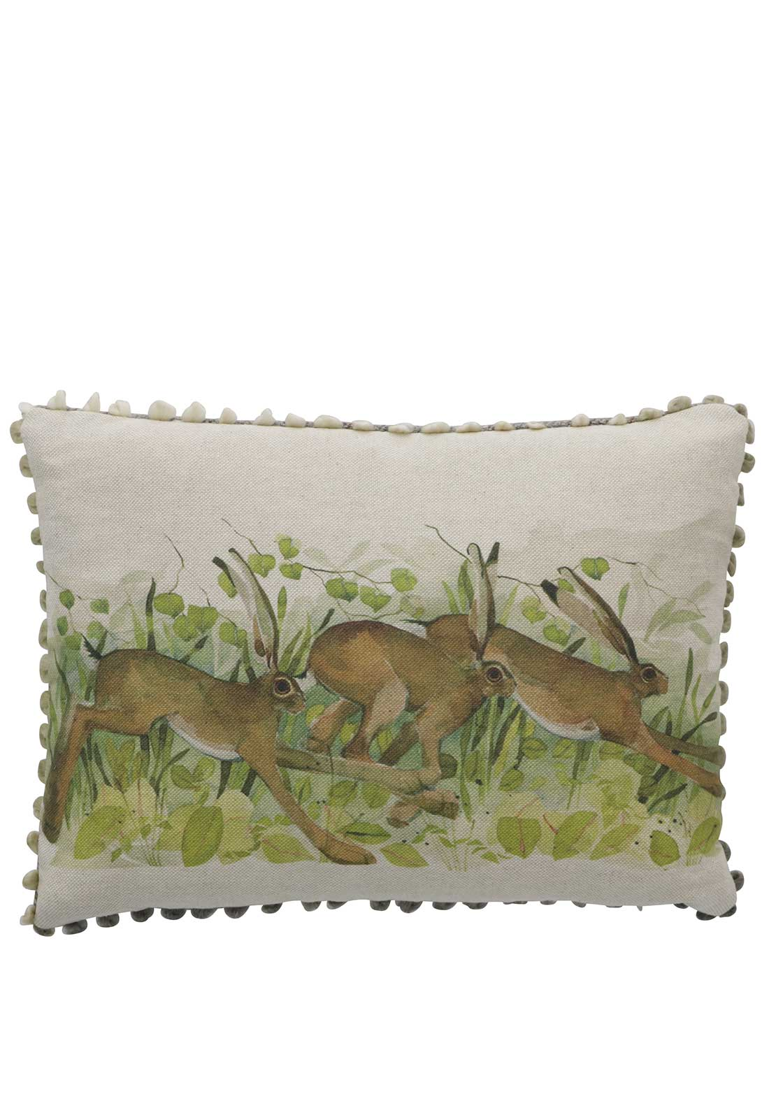 Voyage Maison Leaping Hares Cushion, Multi