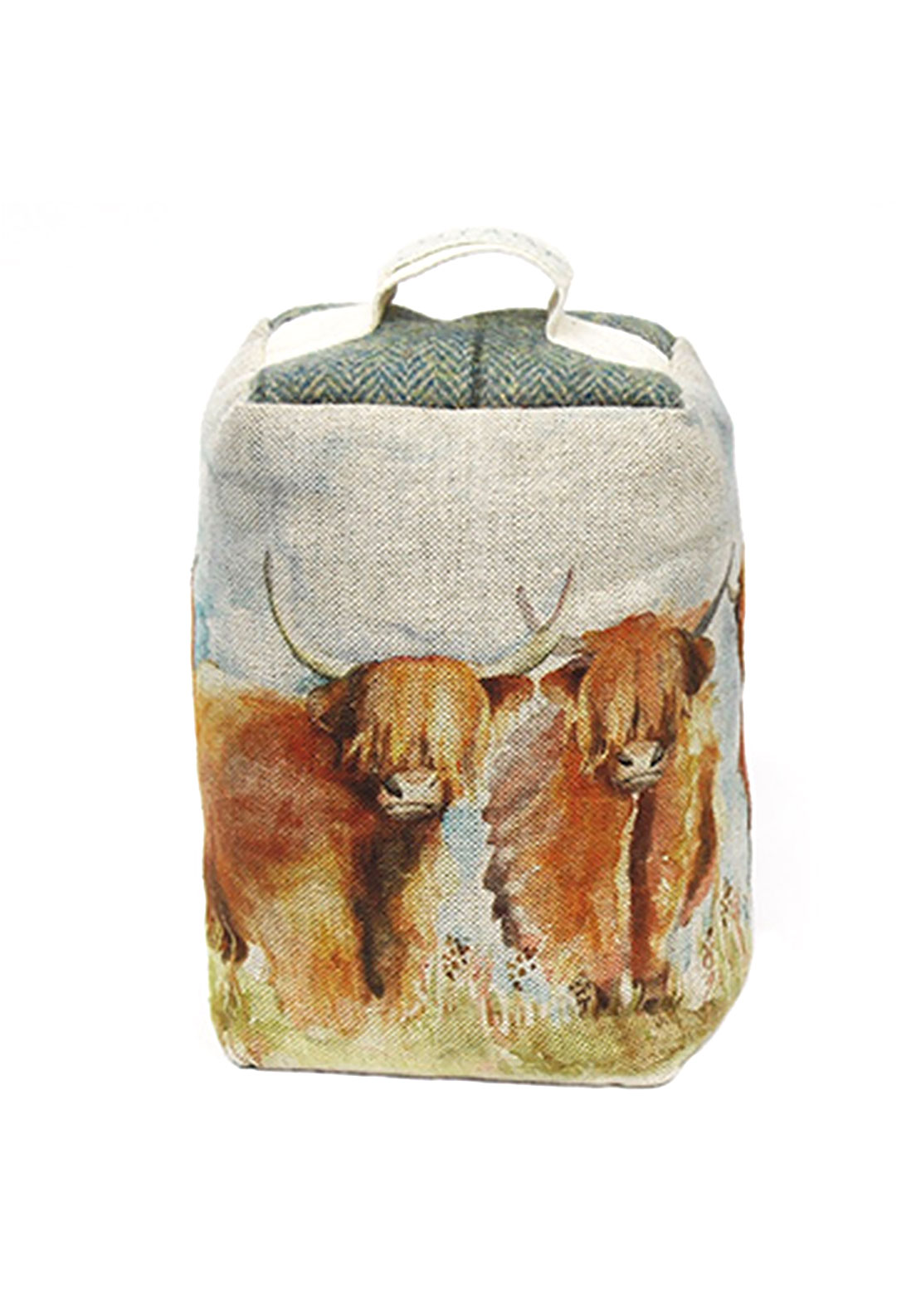 Voyage Maison Highland Cattle Door Stop, Multi
