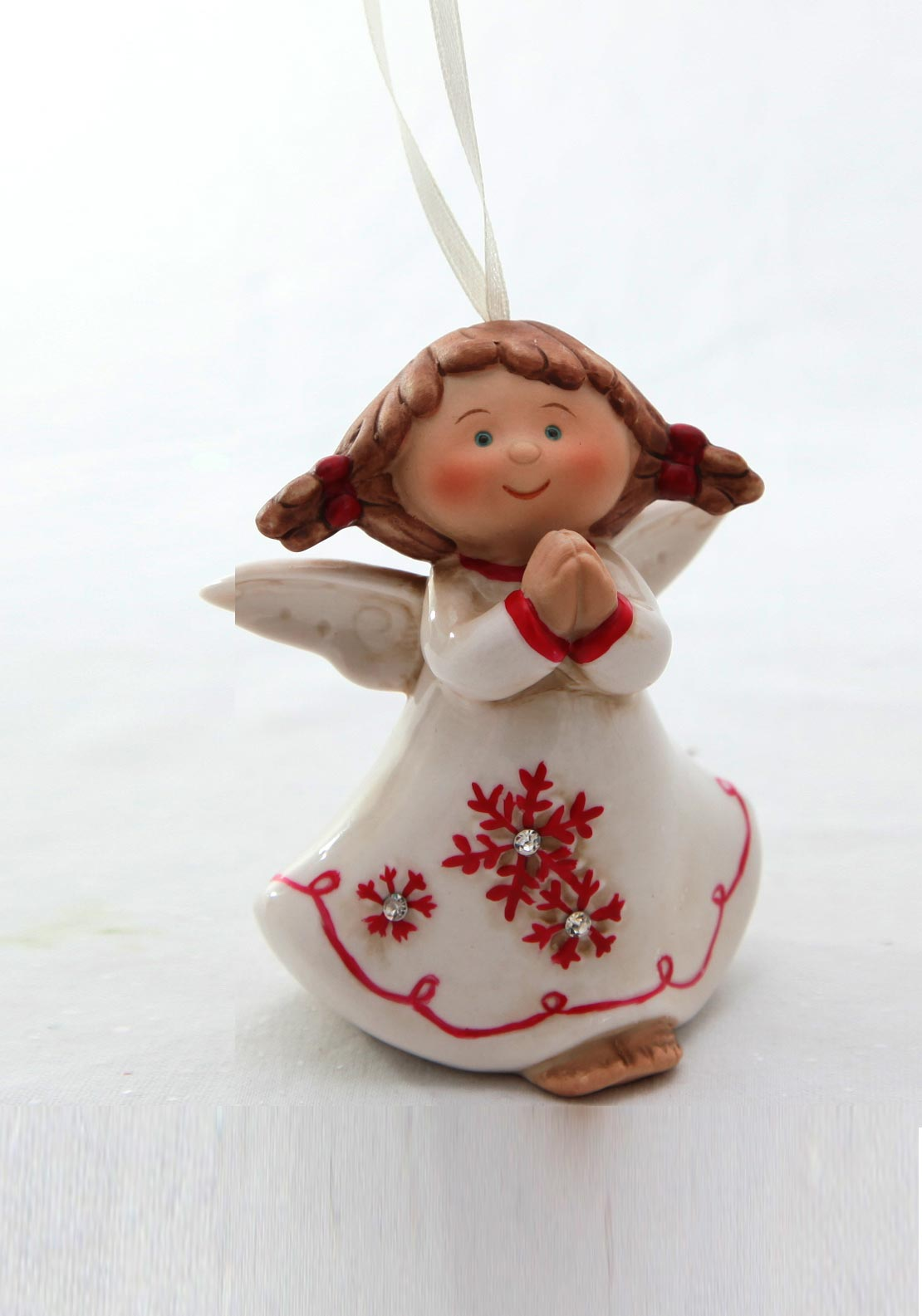 Verano Christmas Porcelain Angel Hanging Decoration