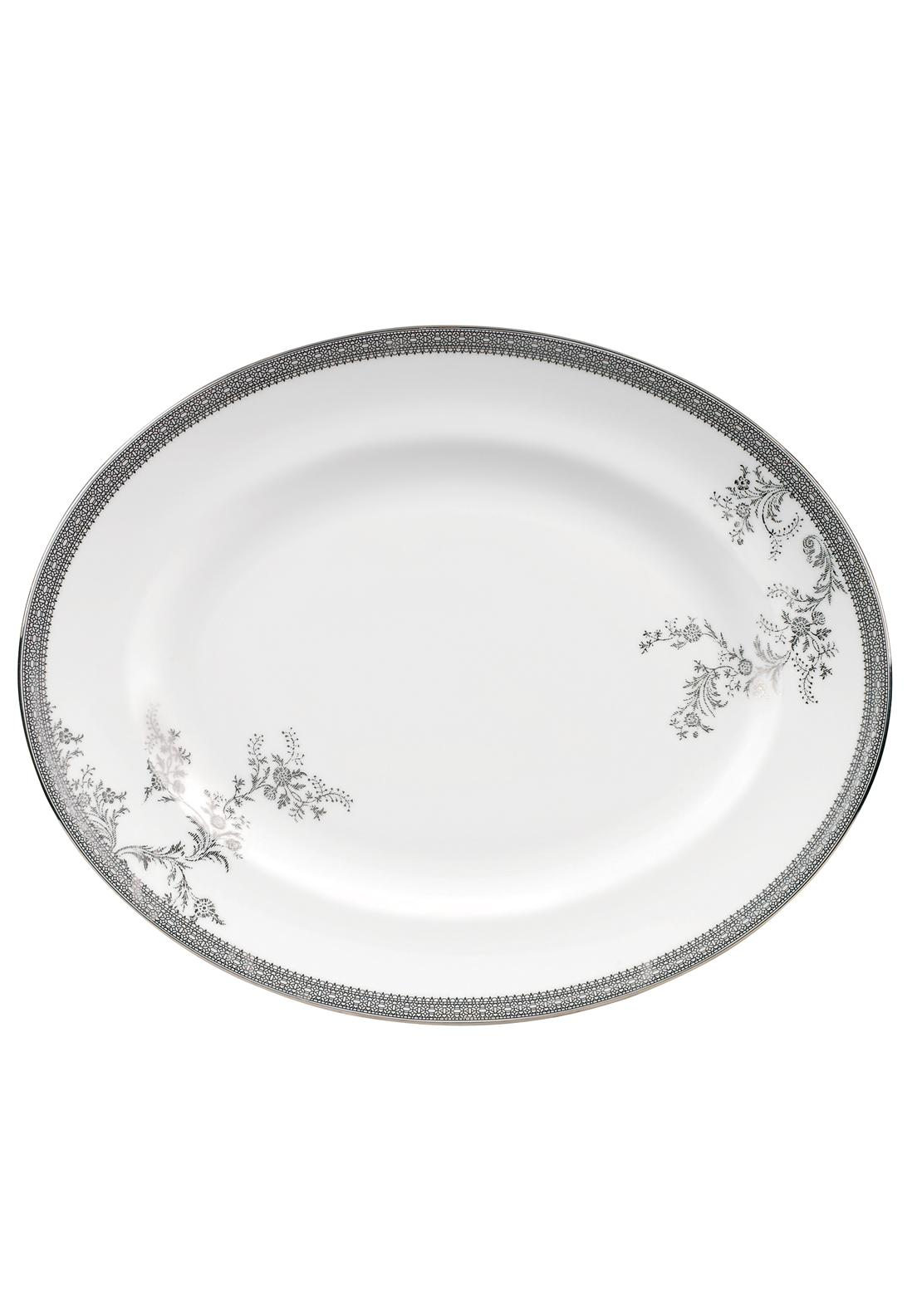 Vera Wang Wedgwood Lace Platinum Oval Dish, Large