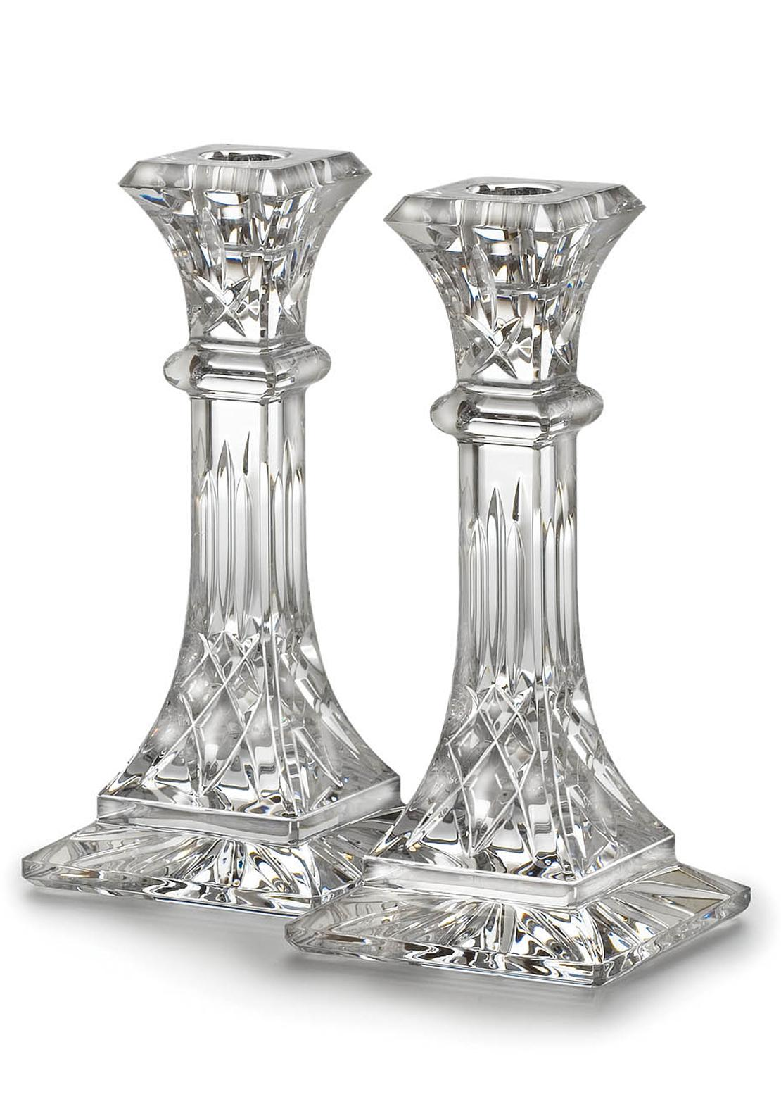 Waterford Crystal Lismore Candlestick Pair, 8in