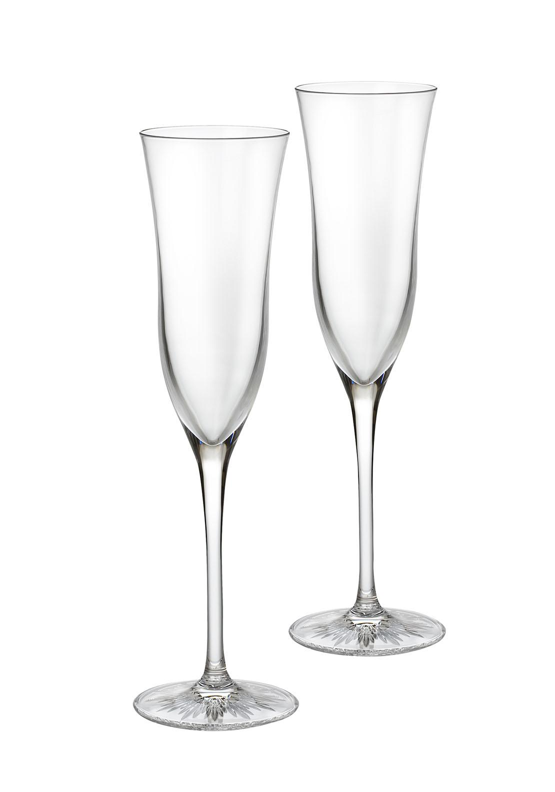 Waterford Crystal Champagne Flute, Pair
