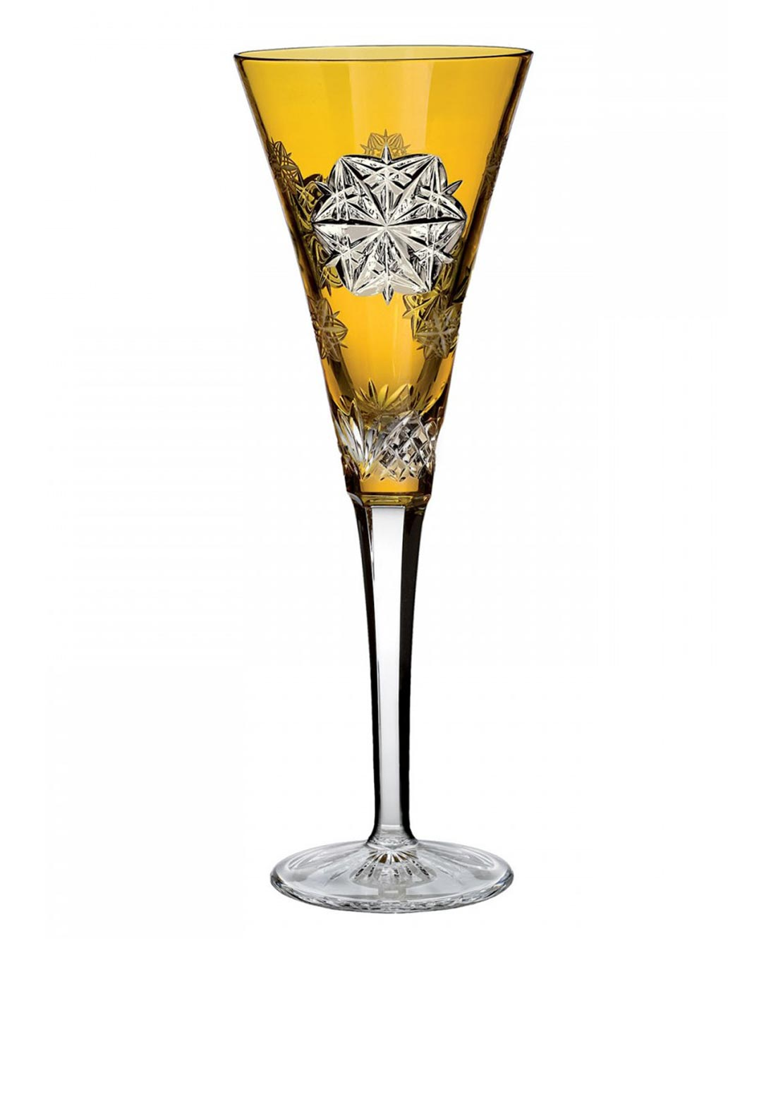 Waterford Crystal Snowflake Peace Wishes Champagne Flute