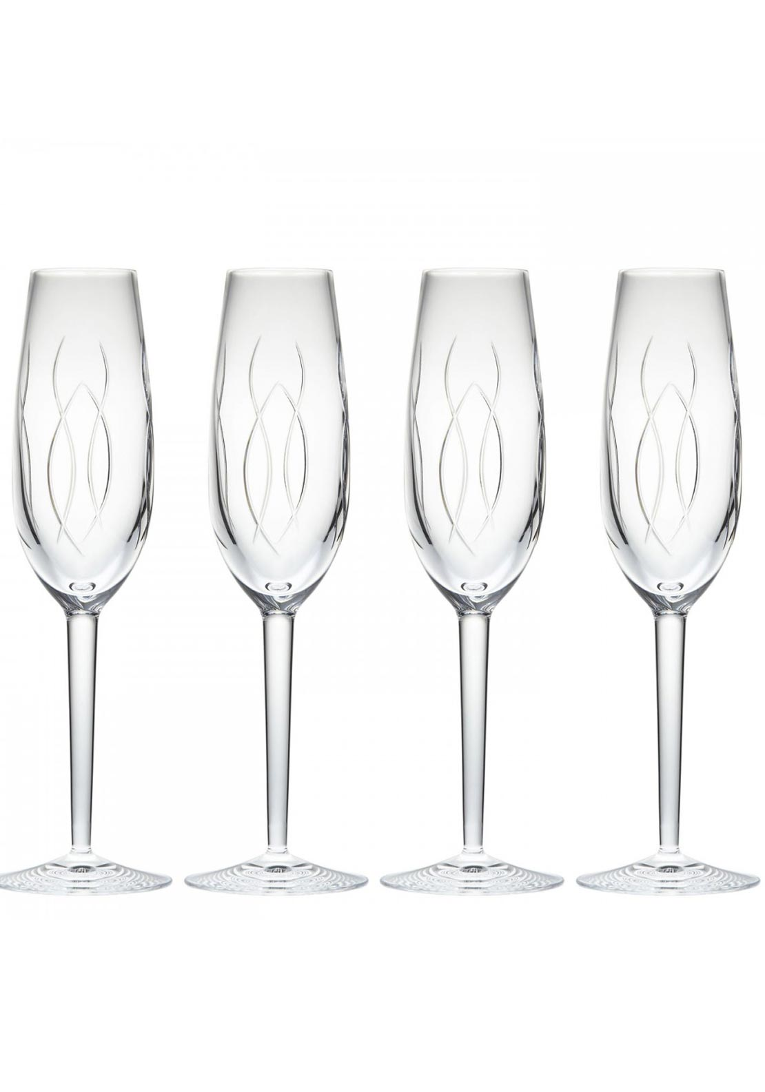 John Rocha at Waterford Weft Flute Glasses, Set of 4