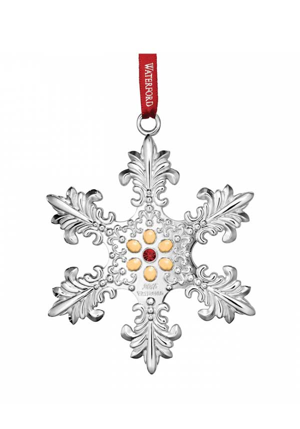 Waterford 2015 Silver Annual Snowflake Christmas Ornament