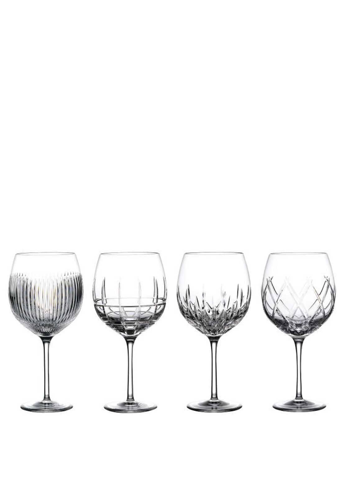 Waterford Crystal Gin Journeys Balloon Set of 4 Mixed Glasses