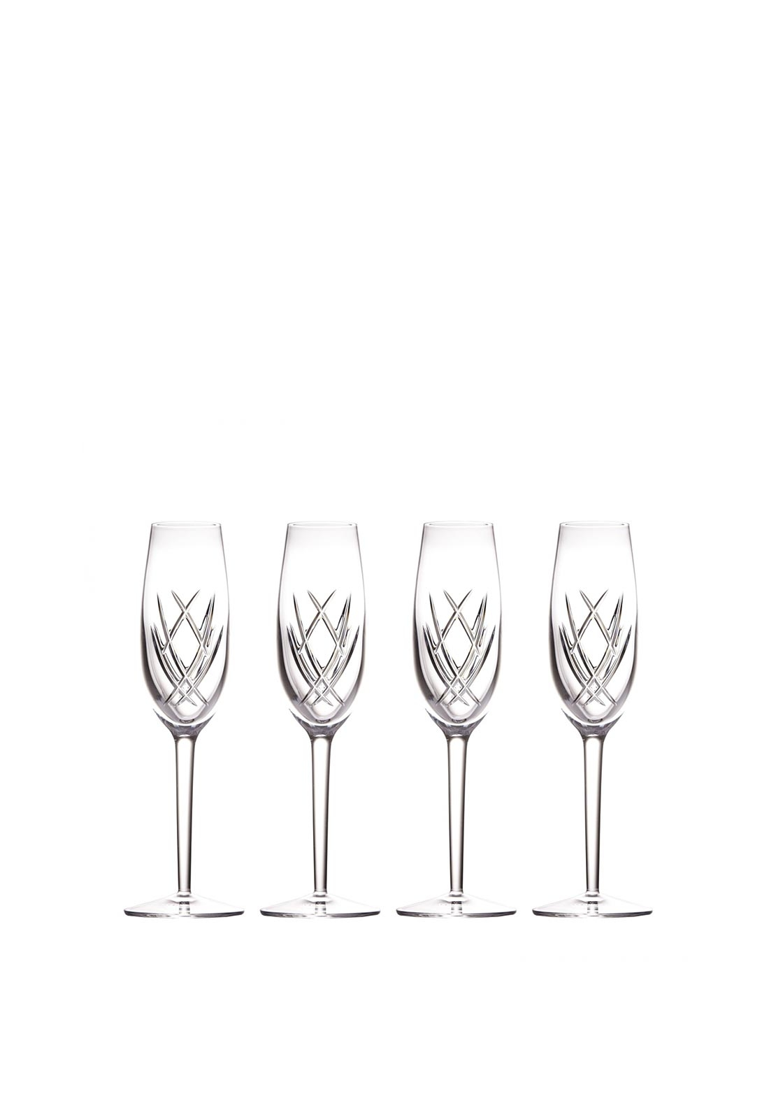 Waterford Crystal John Rocha Seda Set of 4 Flute Glasses