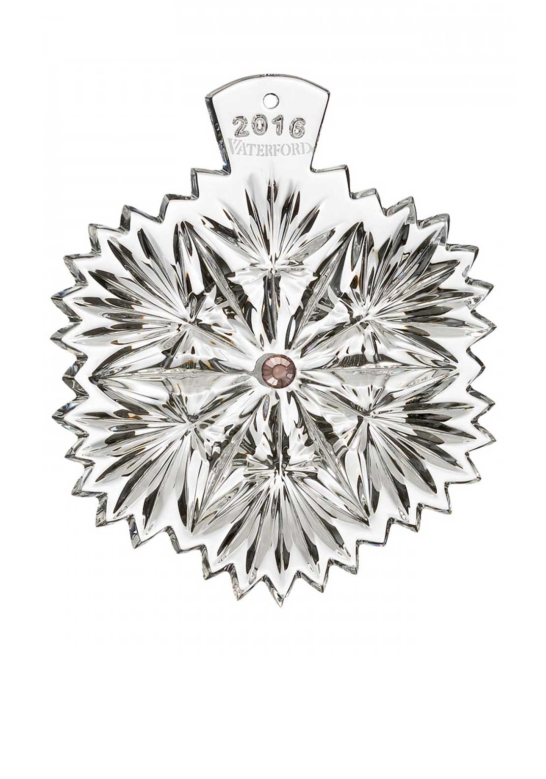 Waterford Crystal 2016 Snowflake Wishes Serenity Decoration
