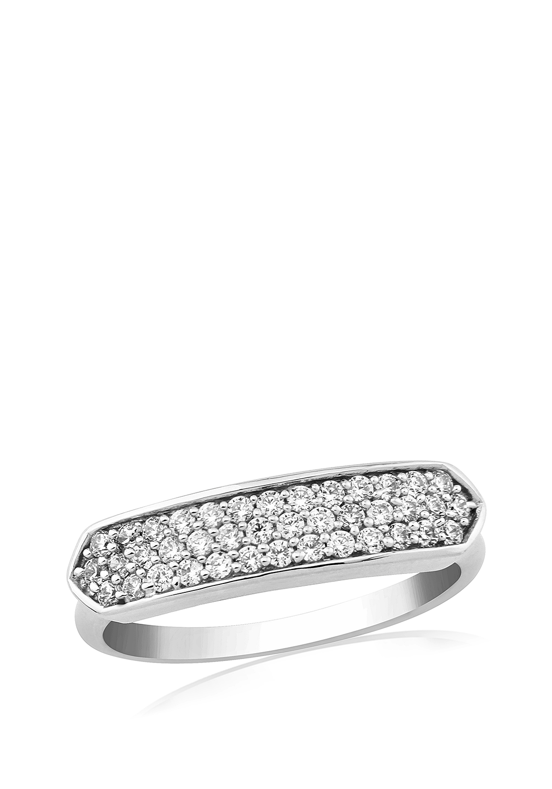 Waterford Crystal Pave Set Ring, Silver