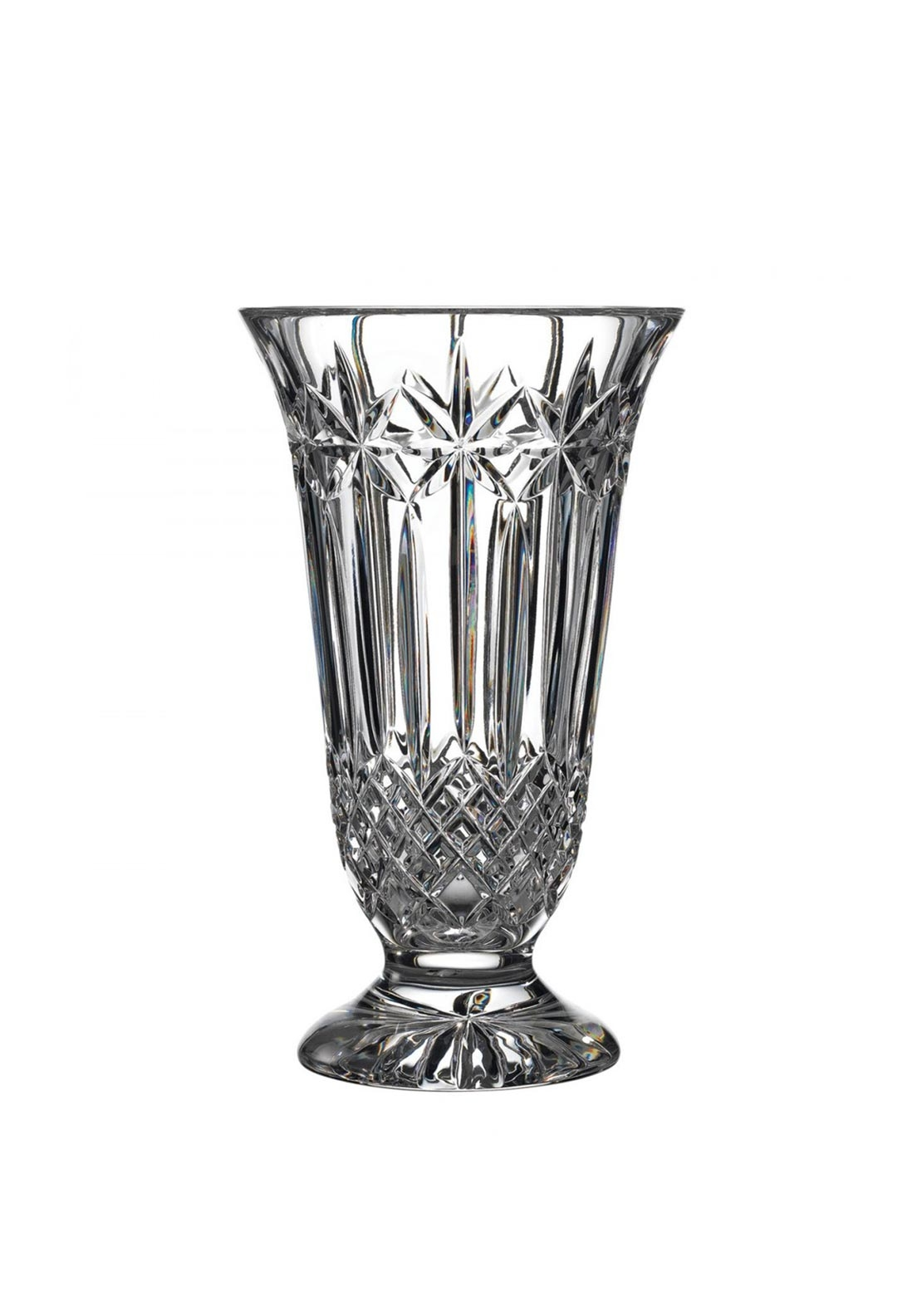 "Waterford Crystal Starburst 12"" Vase"