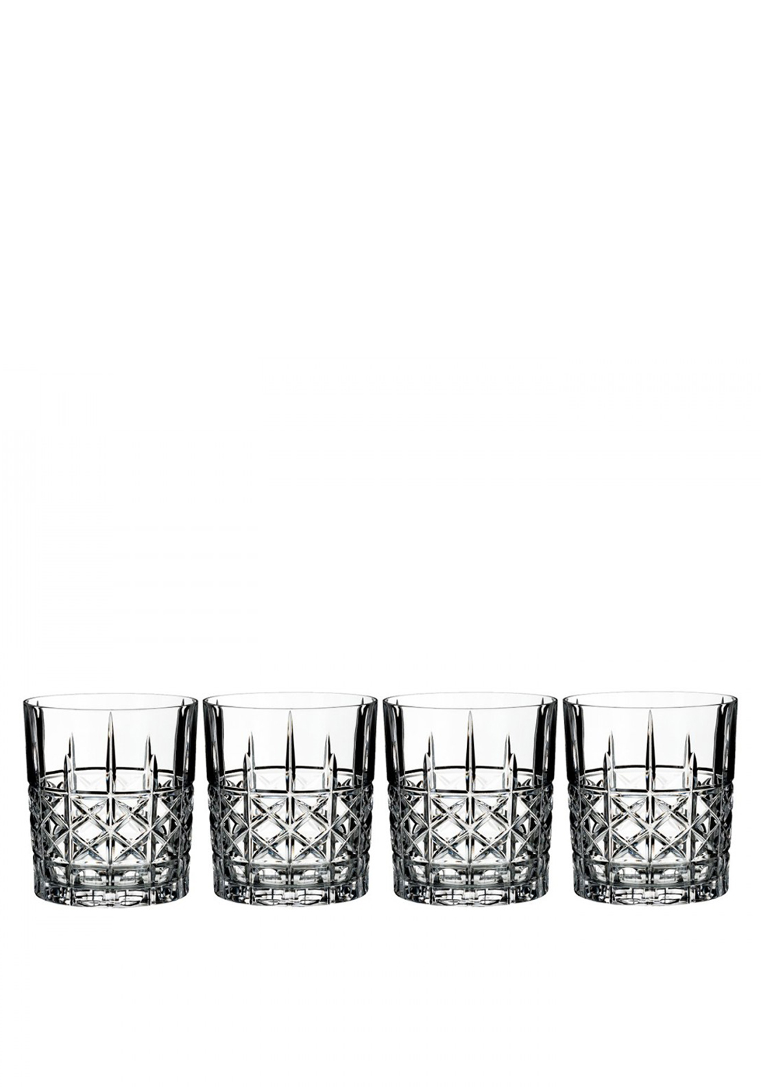 Marquis by Waterford Crystal Brady Double Old Fashioned Tumblers, Set of 4