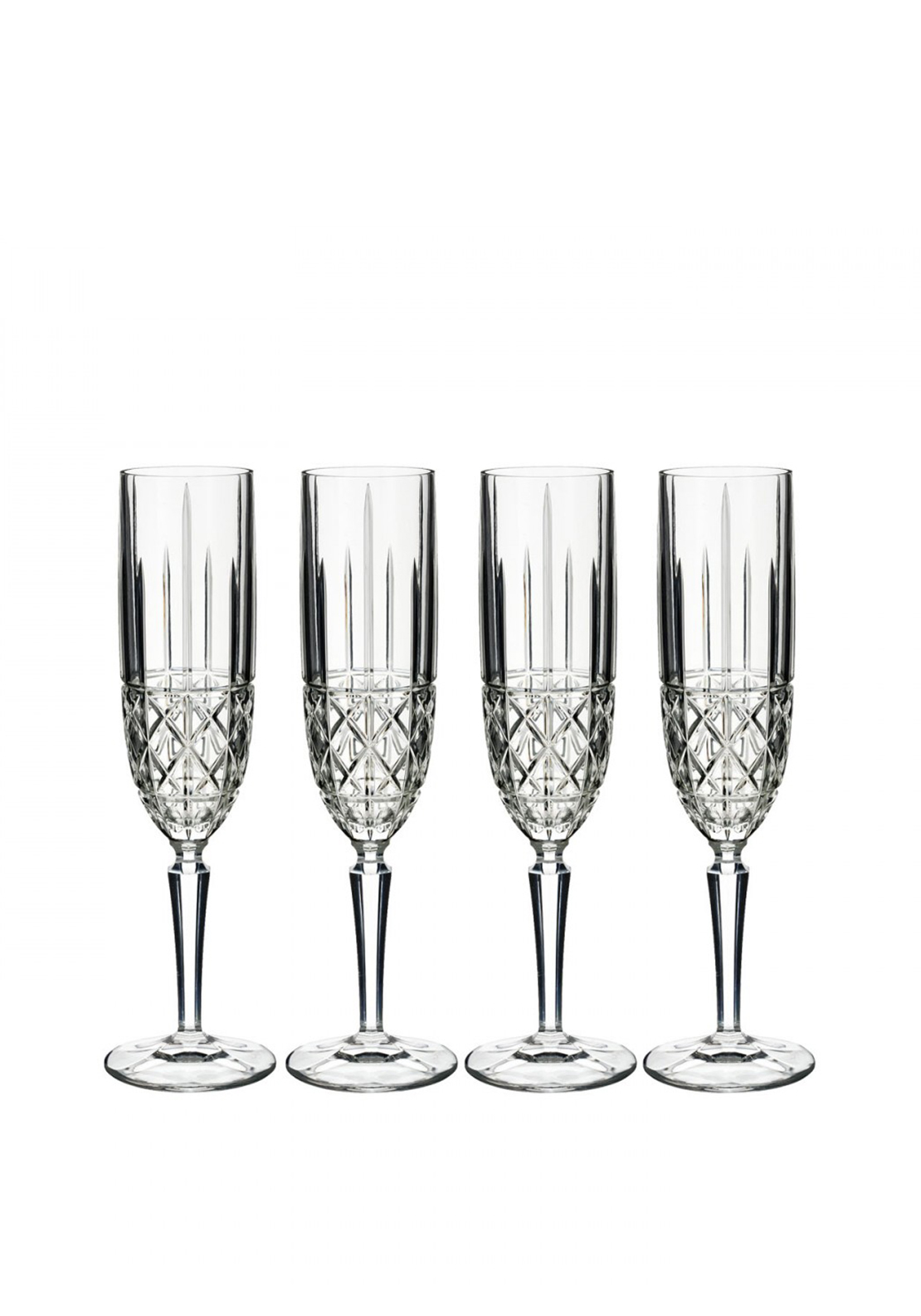 Marquis by Waterford Crystal Brady Flutes, Set of 4