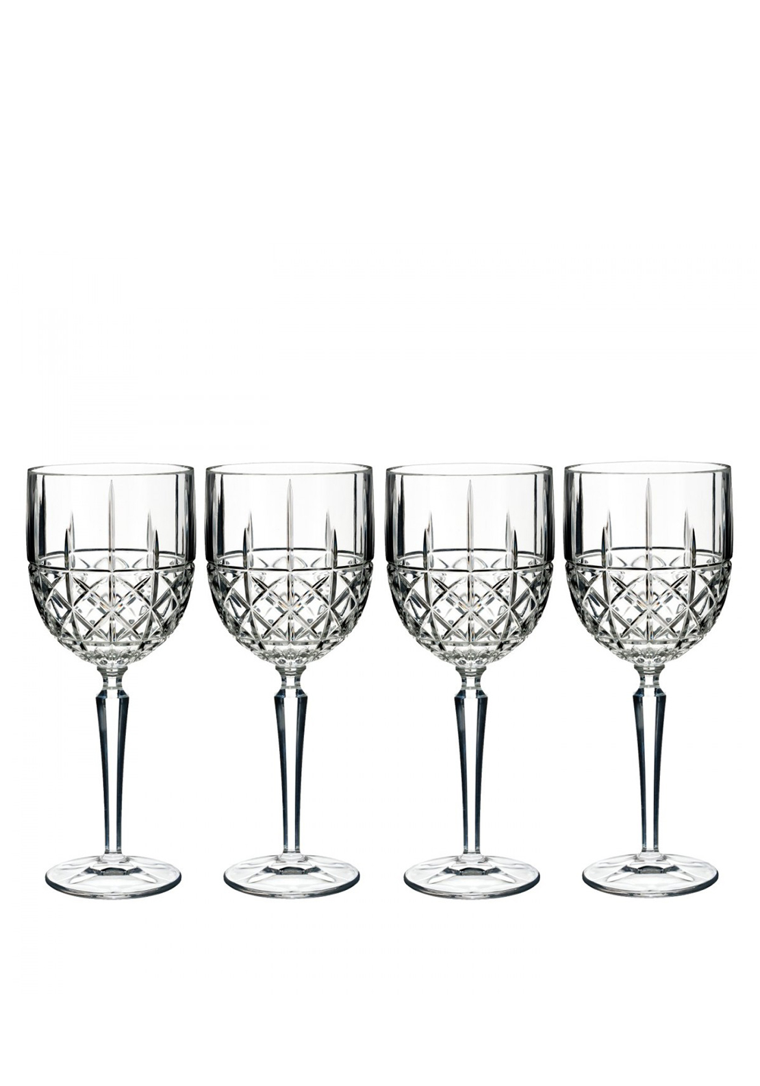Marquis by Waterford Crystal Brady Goblet Wine Glass, Set of 4