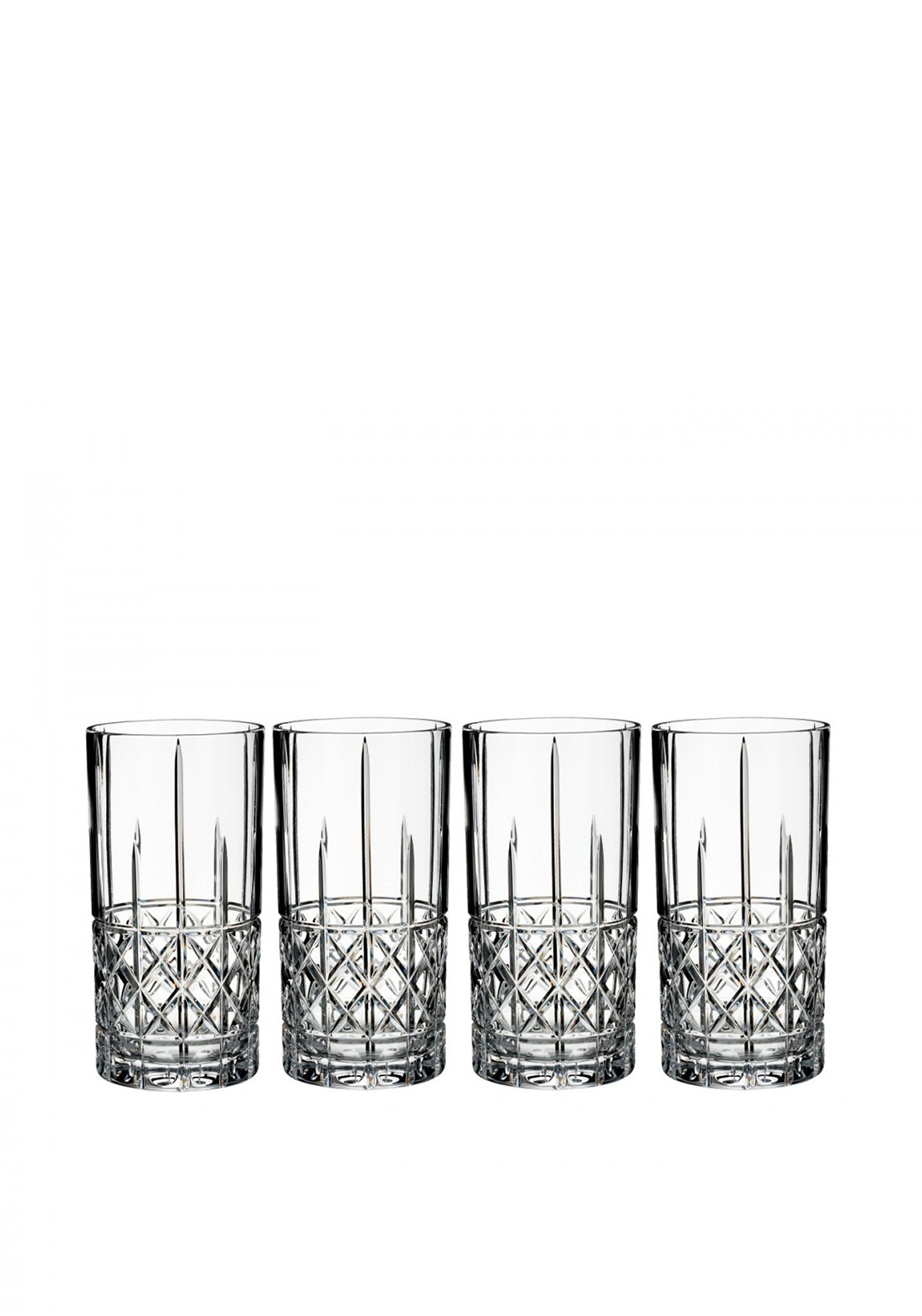 Marquis by Waterford Crystal Brady Hi Ball Glasses, Set of 4