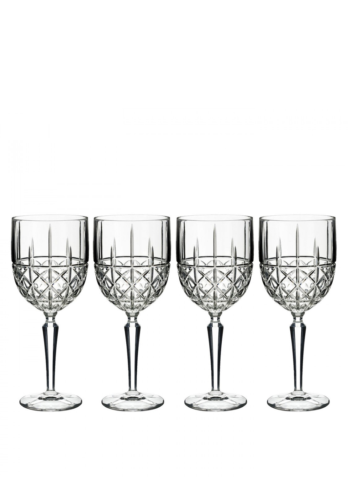 Marquis by Waterford Crystal Wine Glasses, Set of 4
