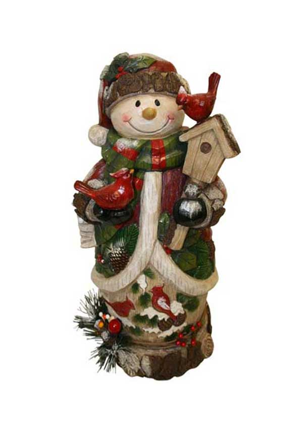 Willow Brooks Secret Tree Woodland Snowman, 58cm