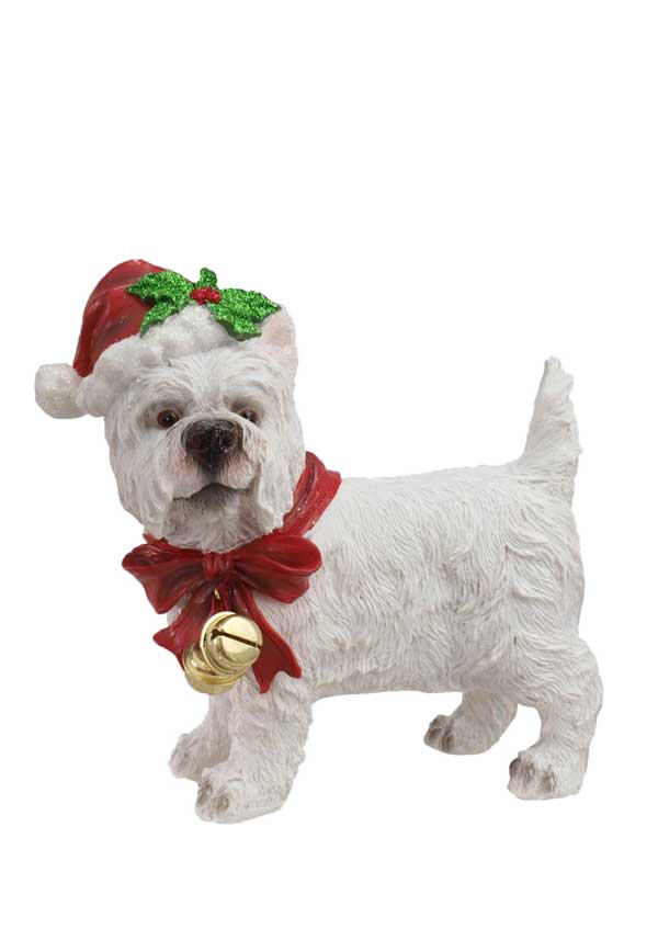 Willow Brooks Winter Holly White Festive Dog