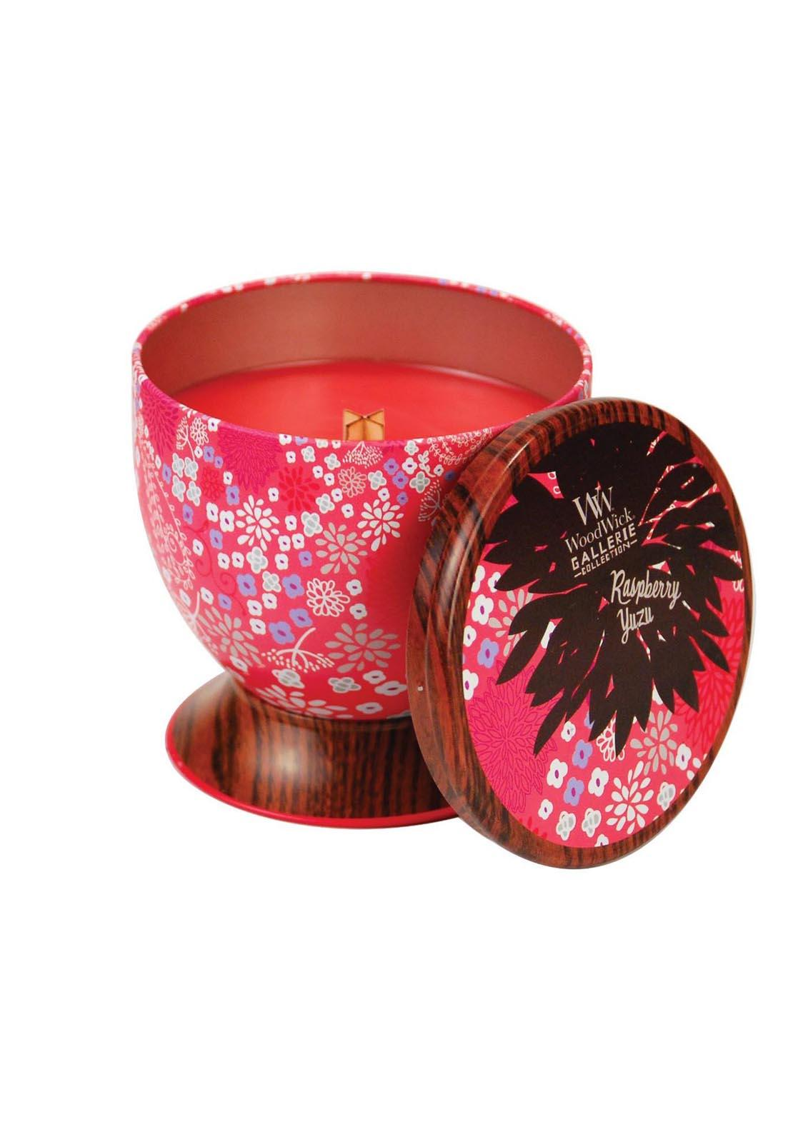 Woodwick Gallerie Collection, Scented Candle, Raspberry Yuzu