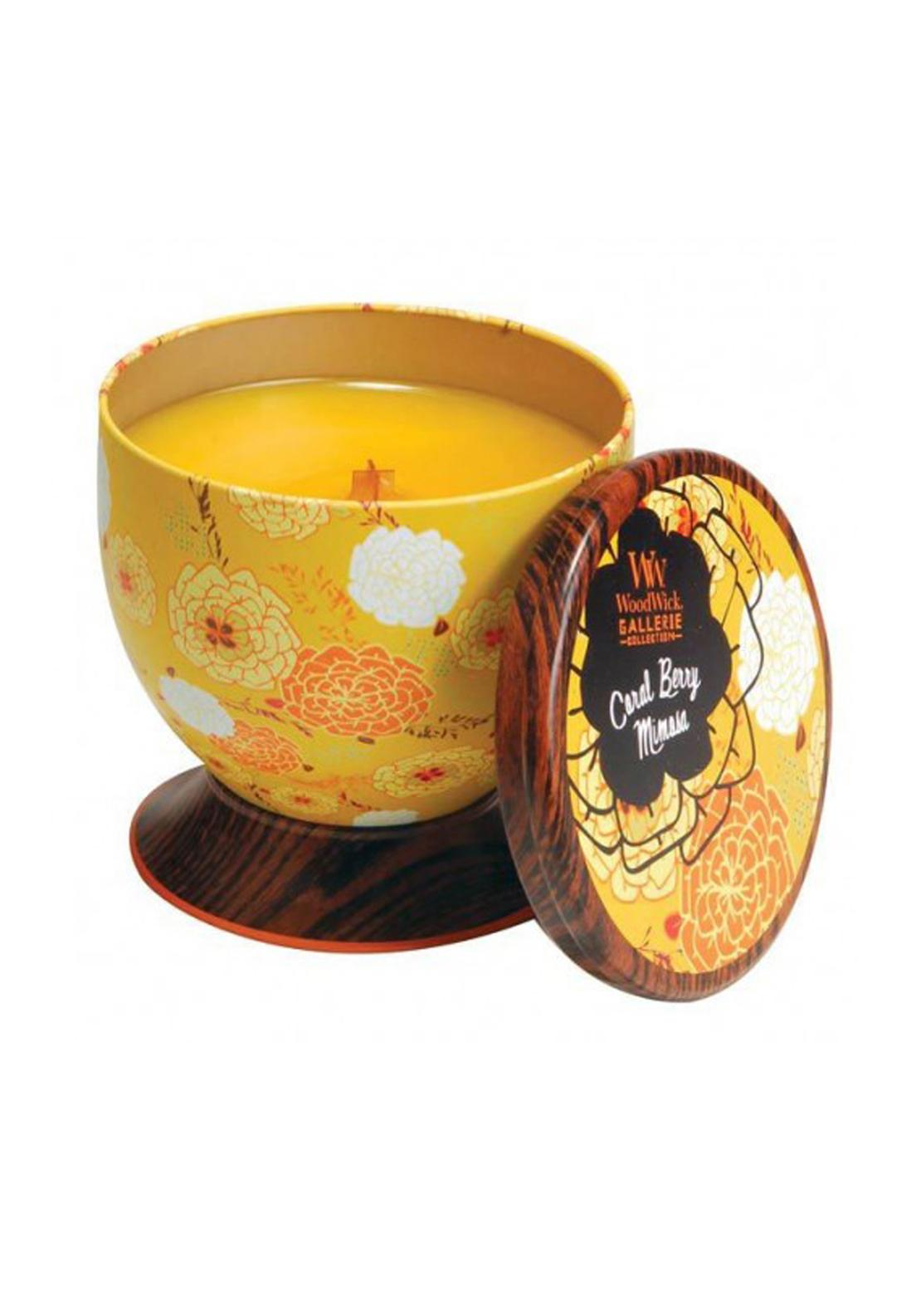 Woodwick Gallerie Collection, Scented Candle, Coral Berry Mimosa
