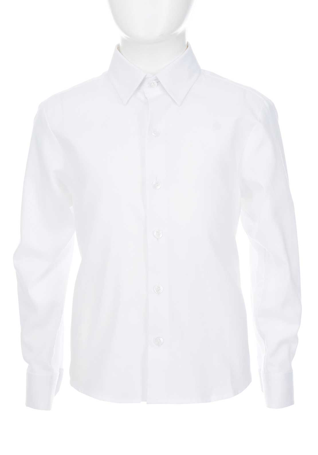 Weise Boys Woven Cotton Shirt, White
