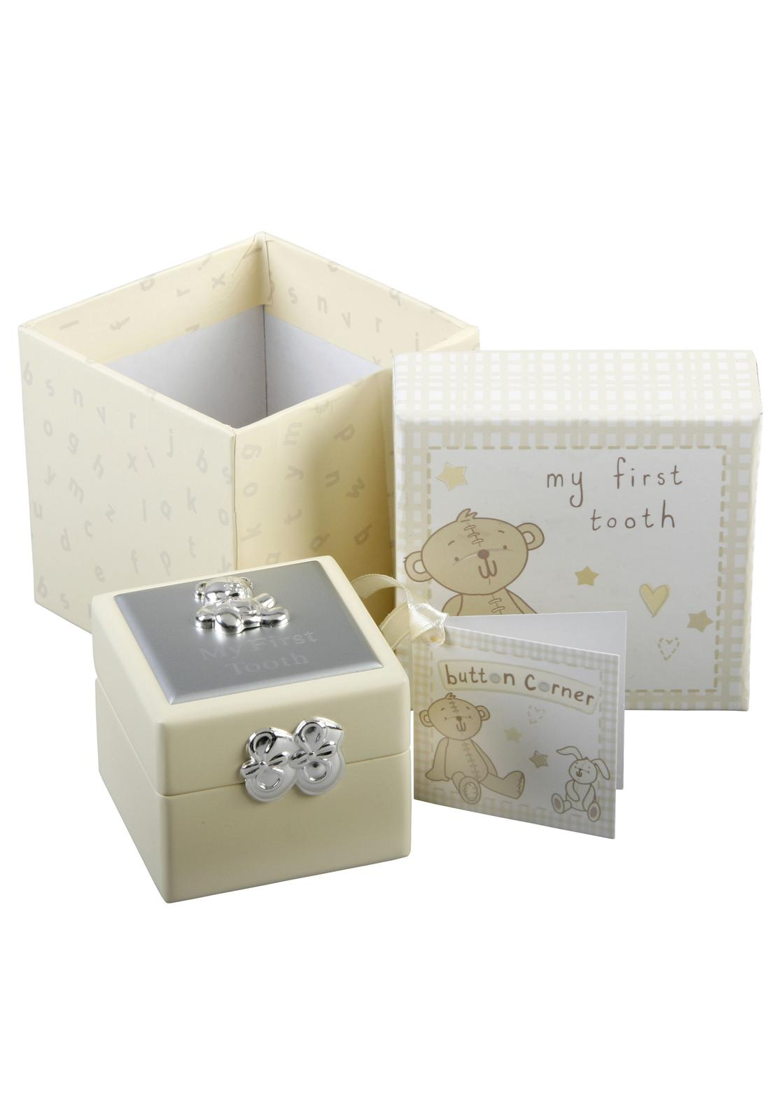 Button Corner Baby First Tooth Box