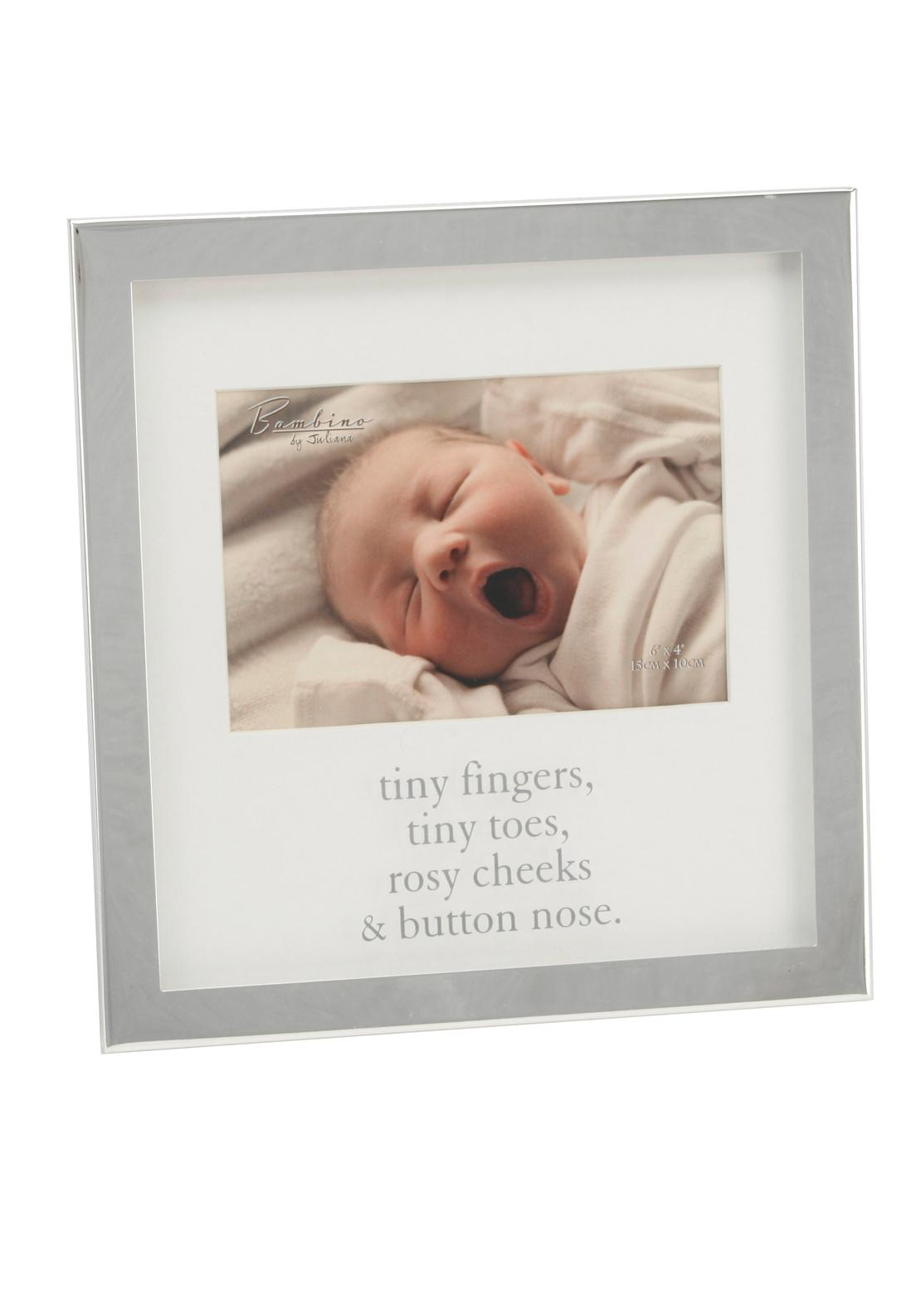Bambino by Juliana Baby Photo Frame, Silver Plated
