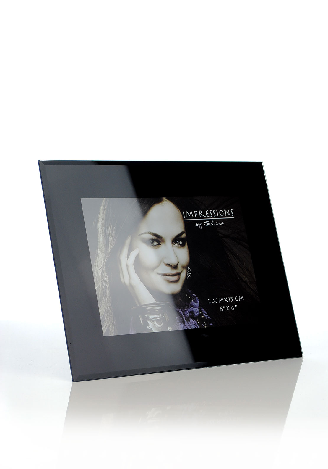 Impressions by Juliana Black Glass Picture Frame, 8 x 6 inches