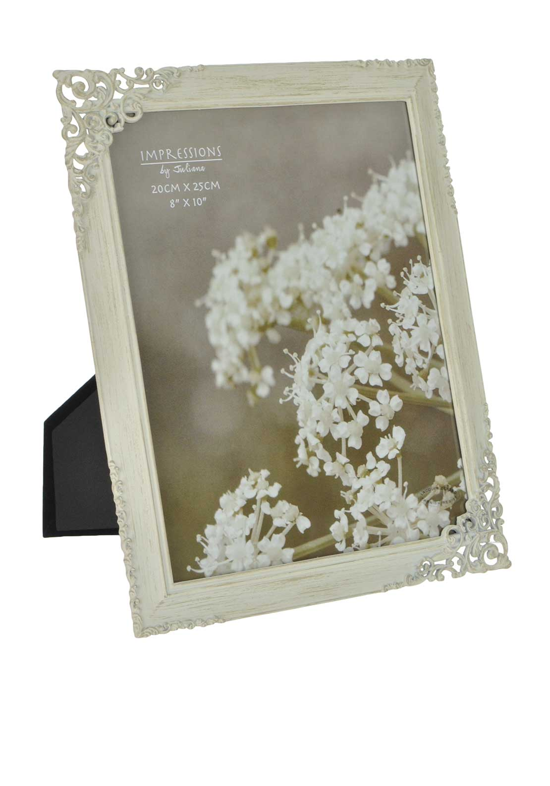 "Impressions by Juliana 8"" X 10"" Metal Photo Frame, Ivory Wedding"