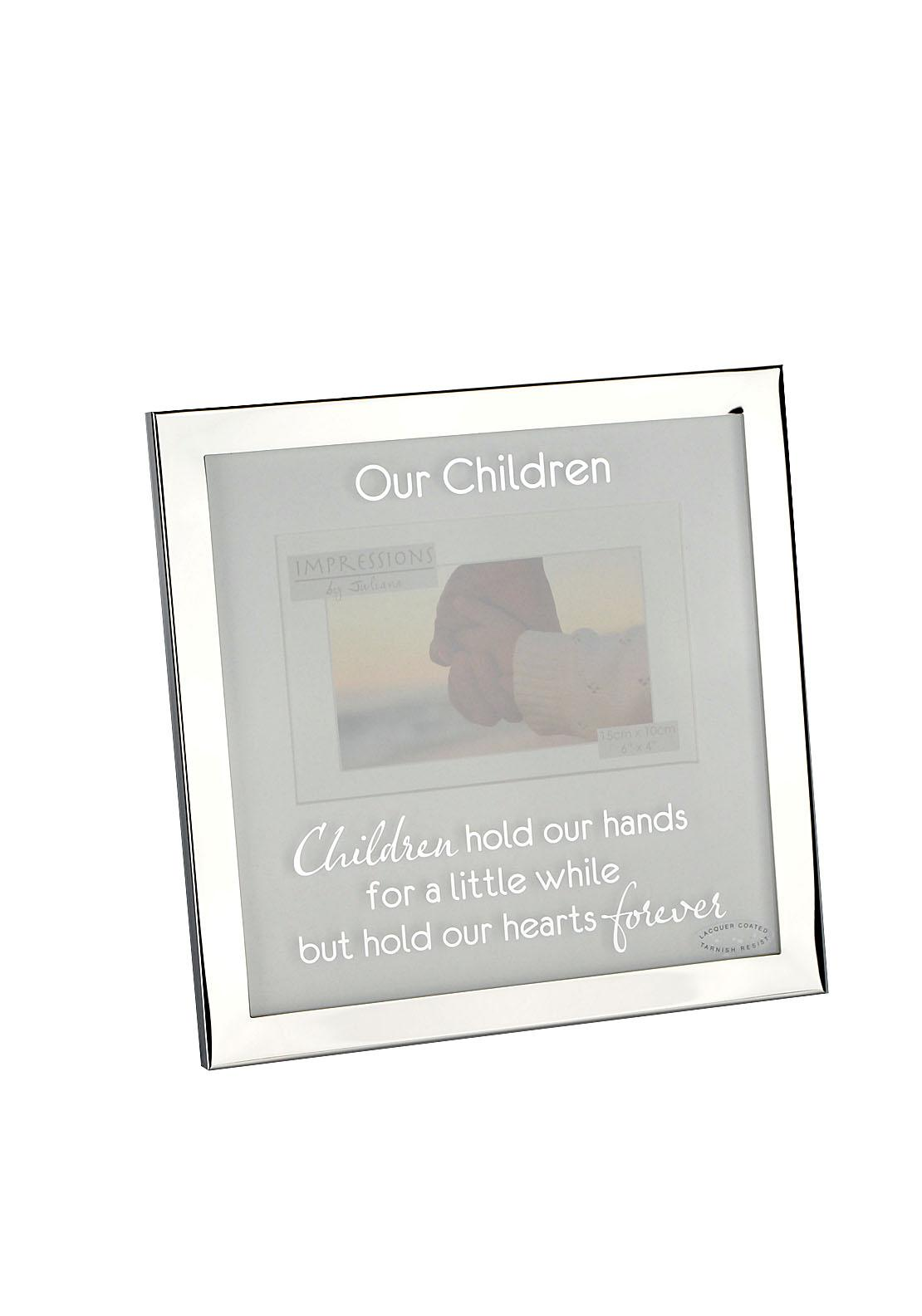 Impressions by Juliana Silver Photo Frame, Our Children