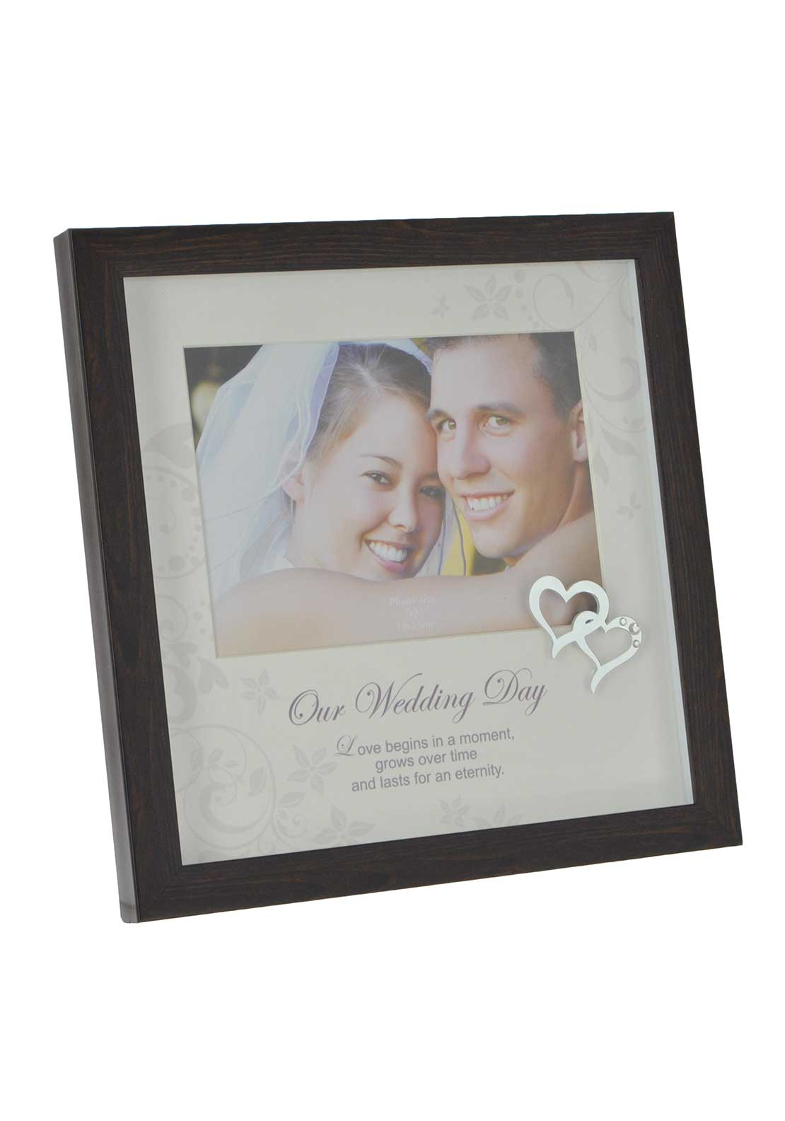 "Impressions by Juliana Wooden Wedding Day Photo Frame, 7"" x 5"""