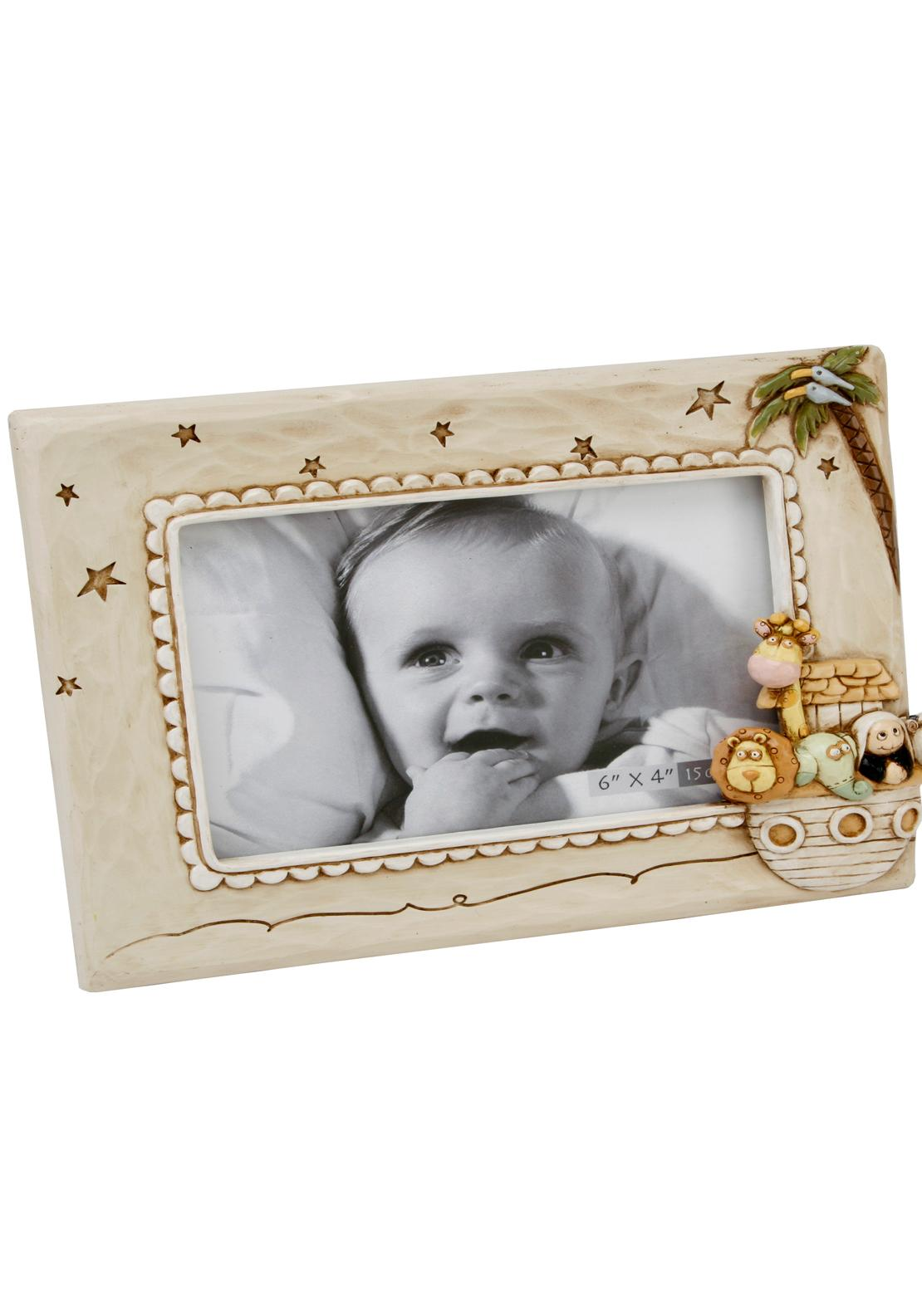 "Noah's Ark Baby Photo Frame 6"" X 4\"""