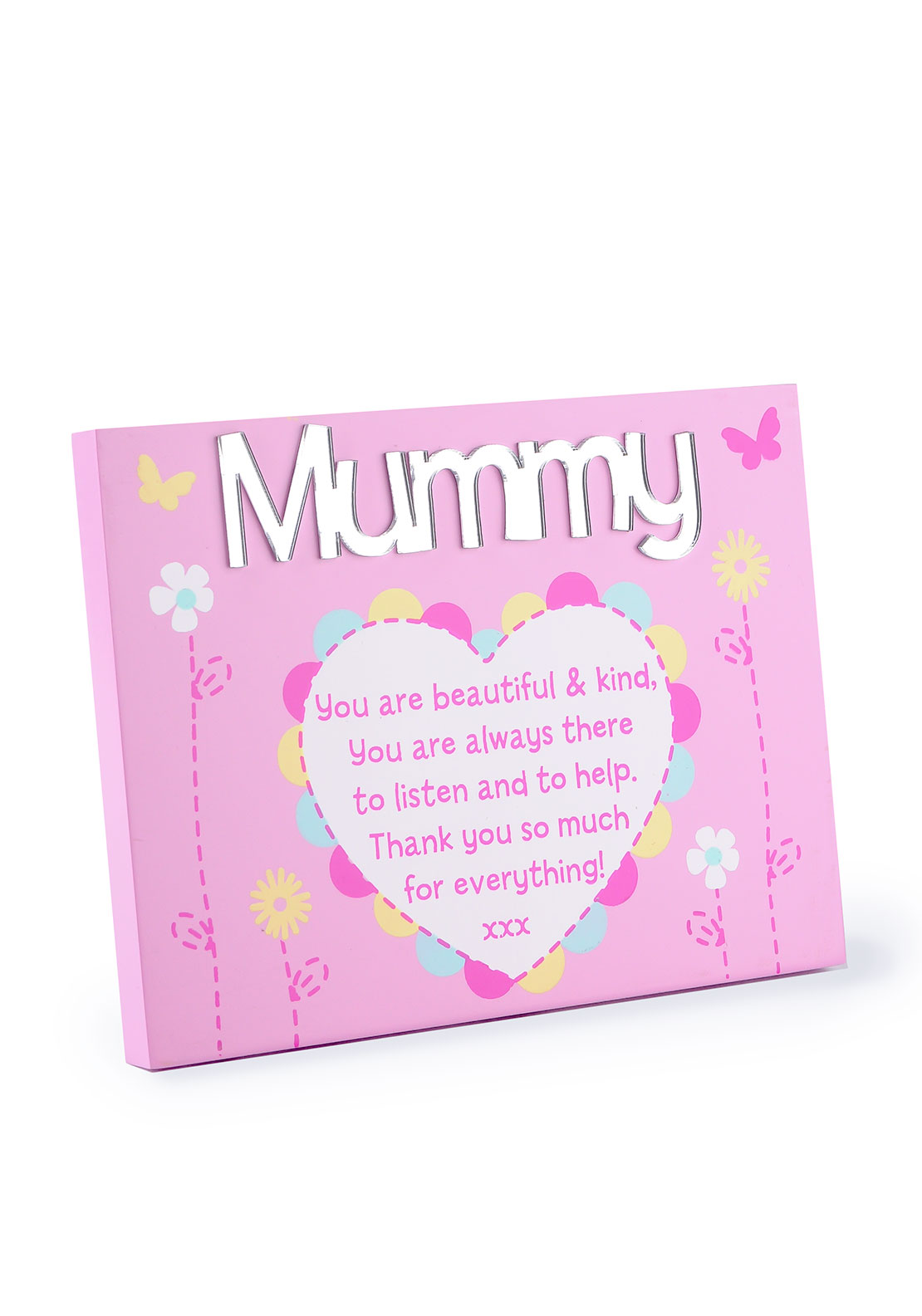 Impressions by Juliana Plaque with Mirrored Letters, Mummy