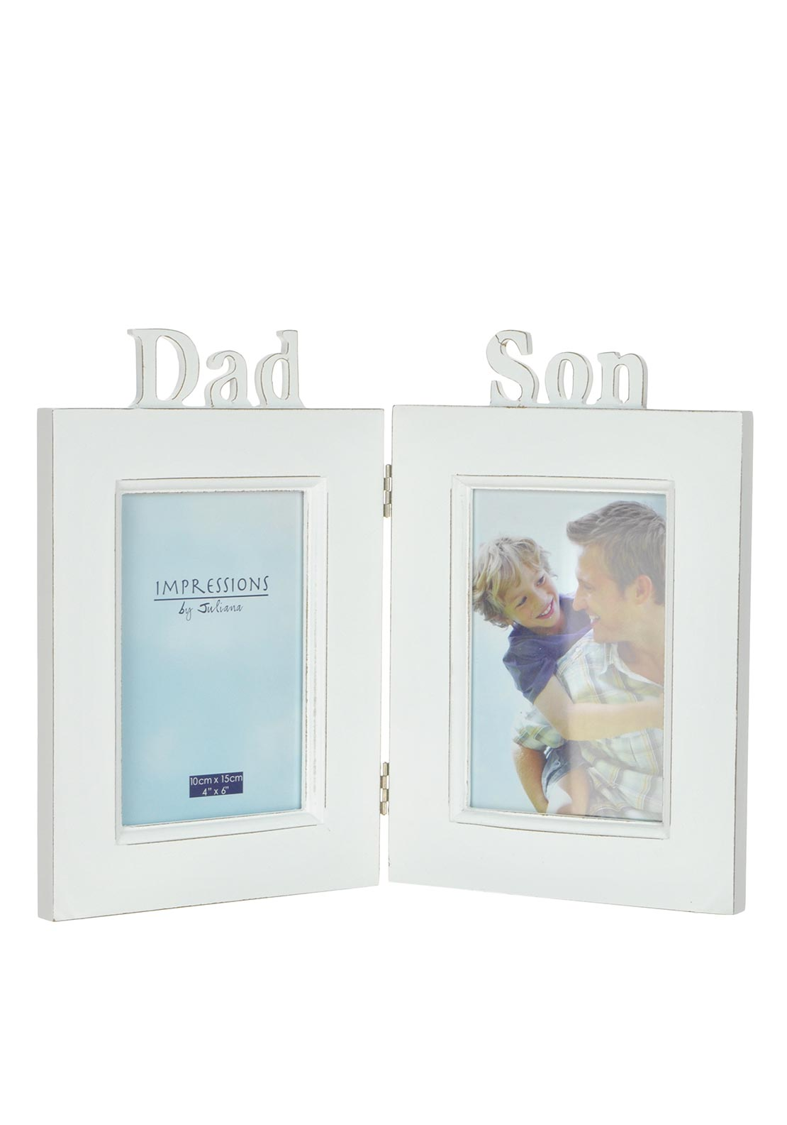 Widdop & Bingham White Double Photo Frame, 4 x 6 inch