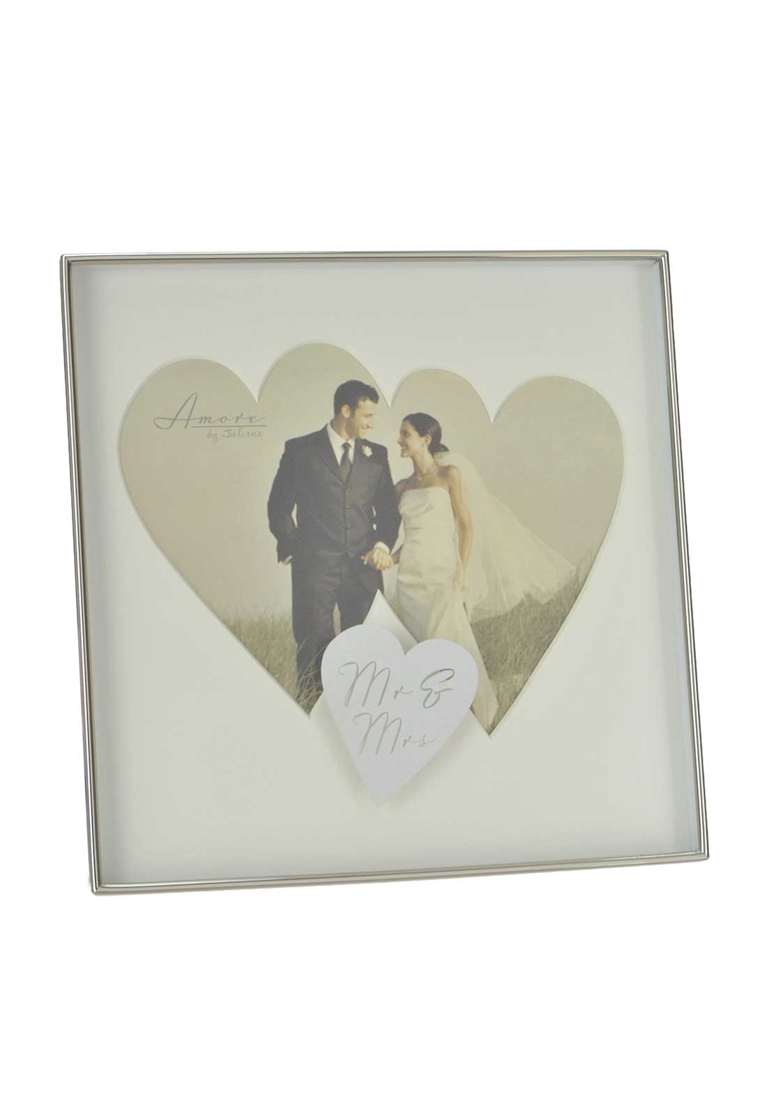Amore by Juliana Silver Plated Twin Heart Photo Frame