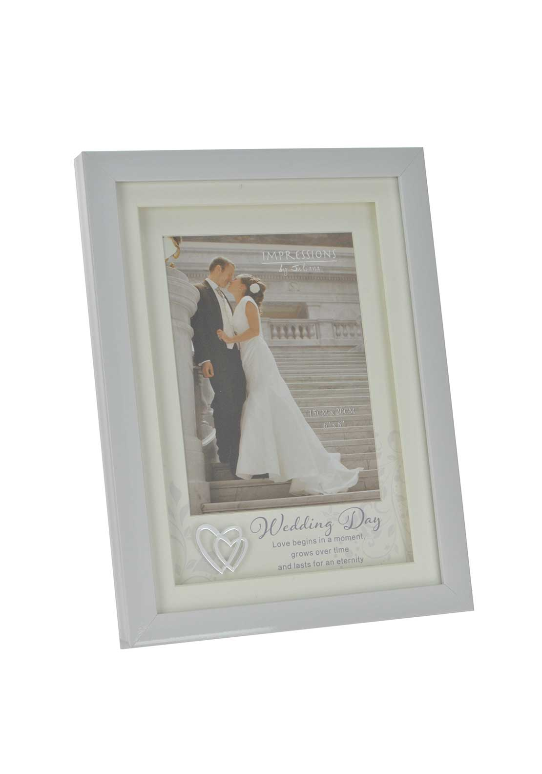 "Impressions by Juliana Wedding Day Photo Frame, 6"" x 8"""